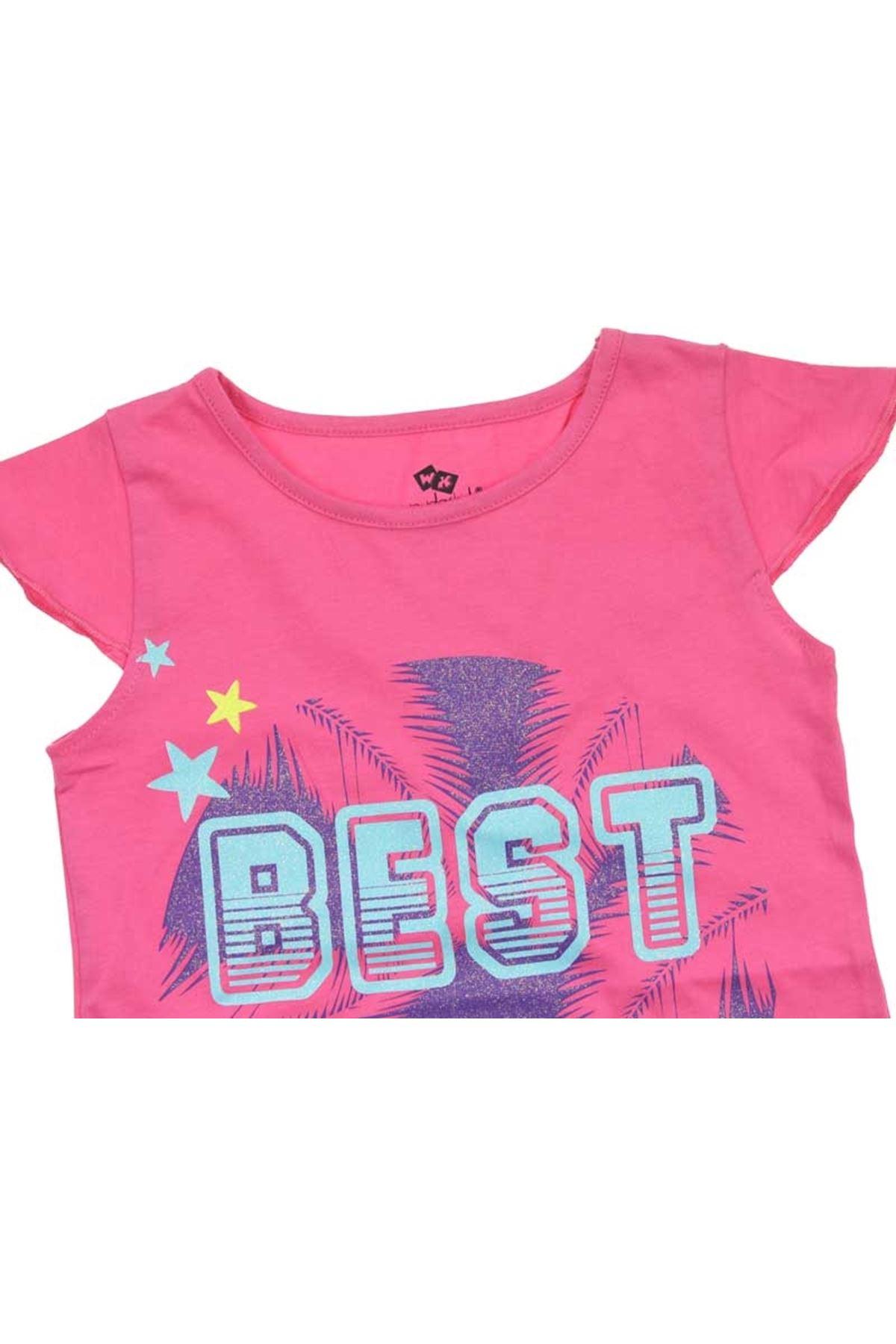 Wonder Kids Kız Çocuk Kısa Kol Tişört