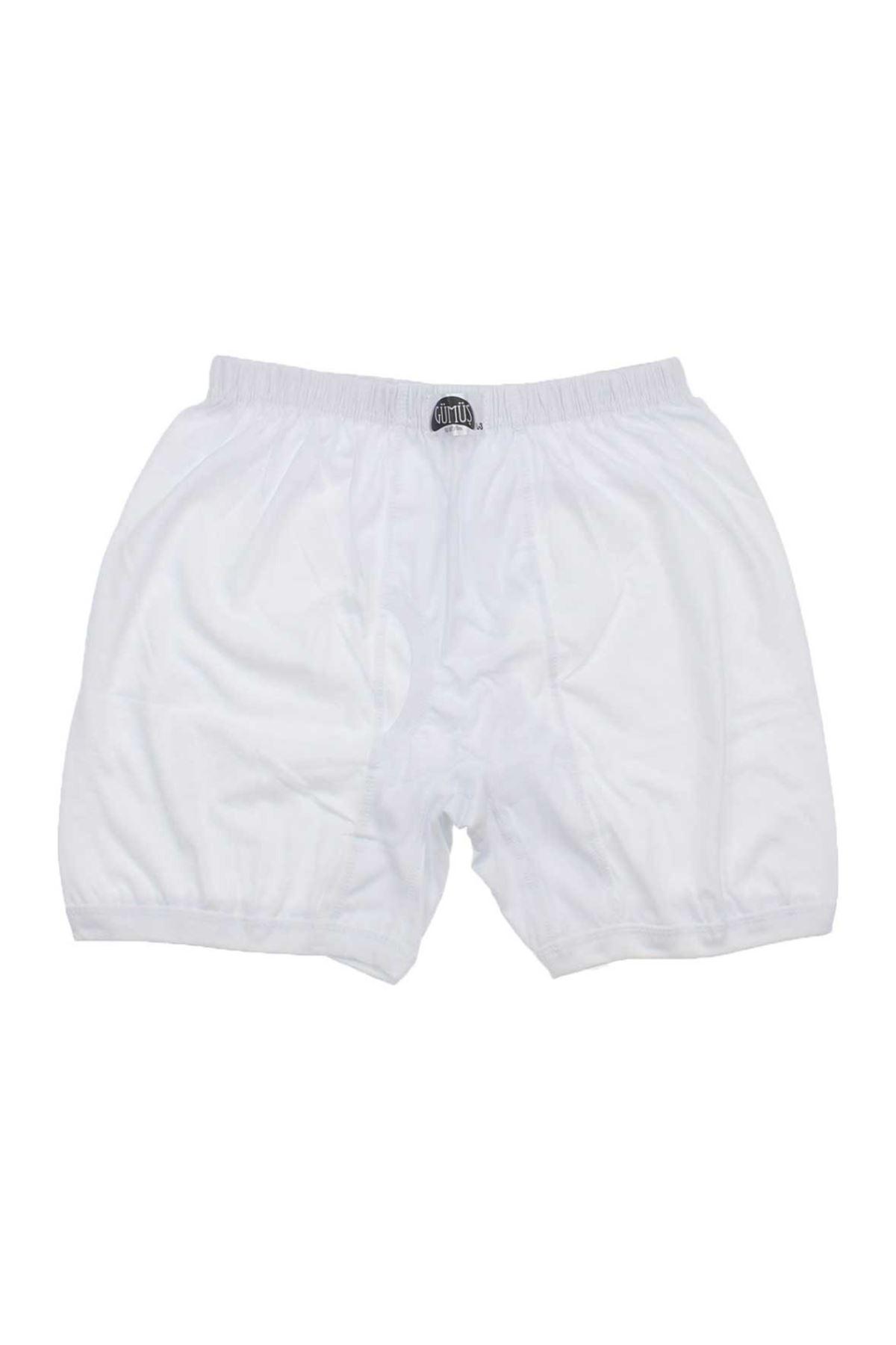 Gümüş İç Giyim Erkek Büyük Beden 6lı Beyaz Paçalı 040-3007-027