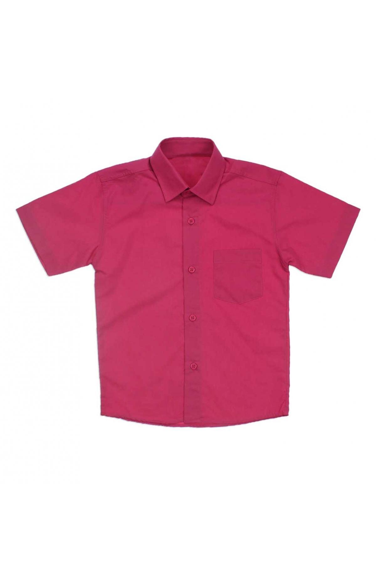 23 Nisan Erkek Çocuk Fuşya Gömlek