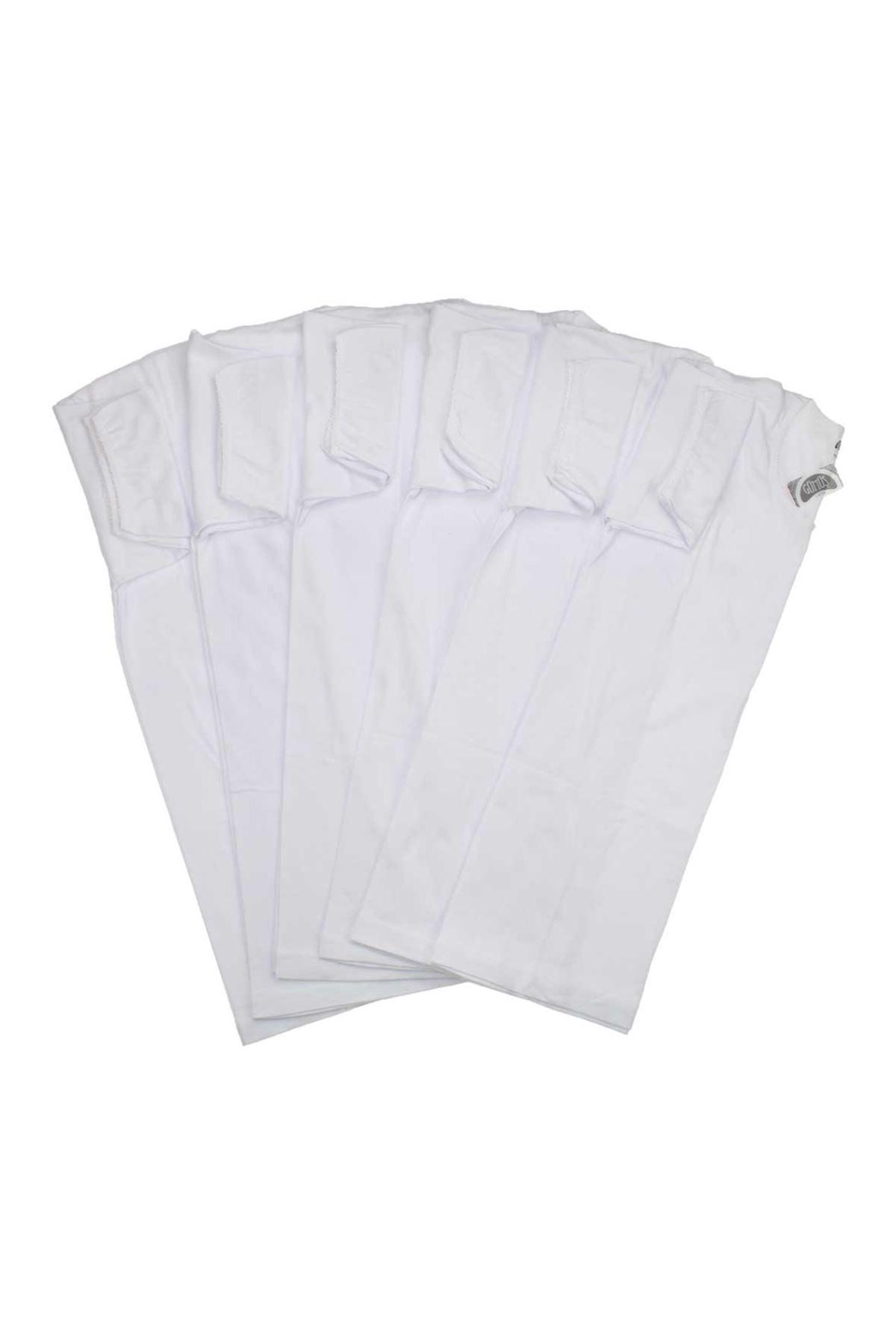 Gümüş İç Giyim Bayan 6 lı Beyaz Fanila