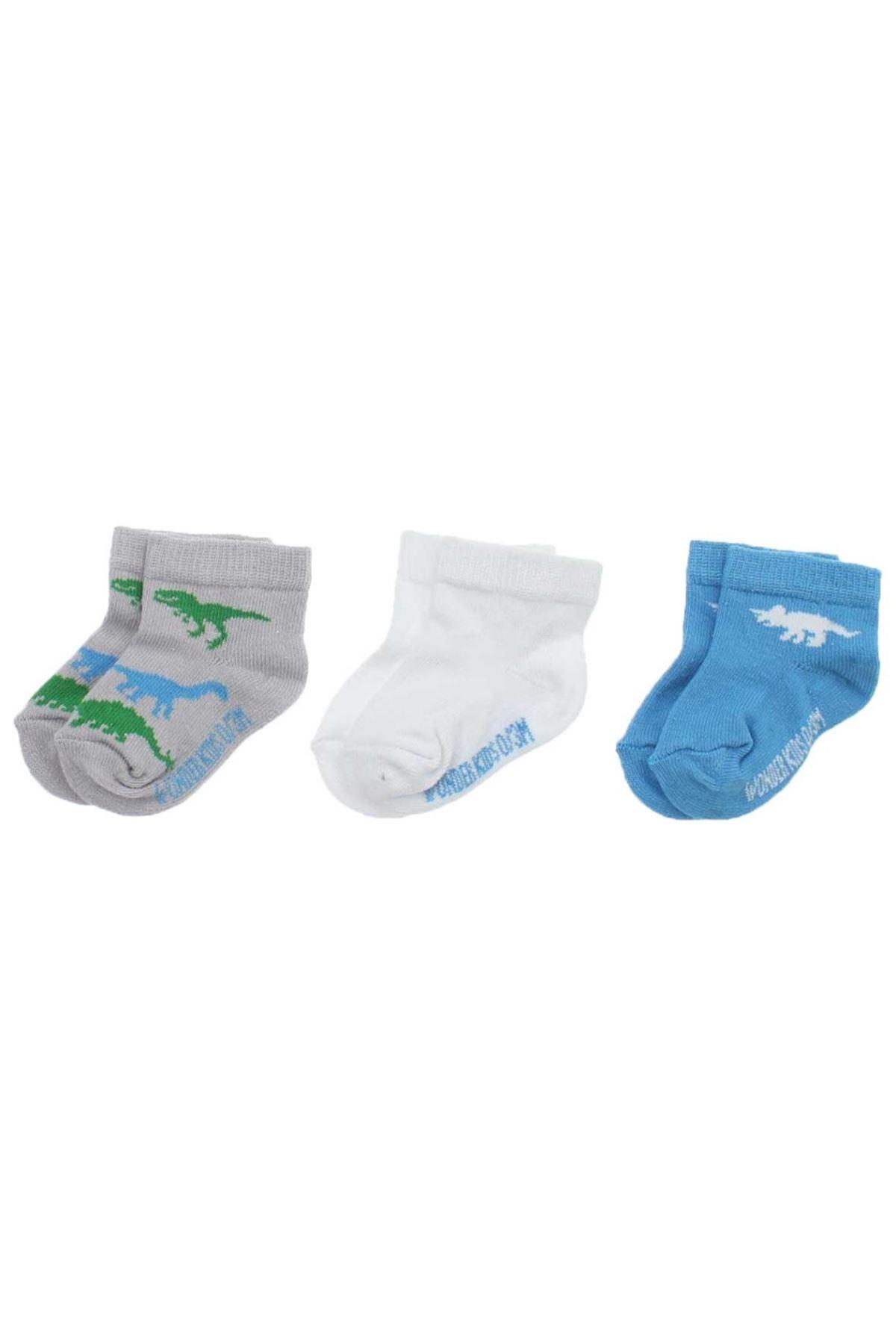 Wonder Kids Erkek Bebek 3 lü Çorap