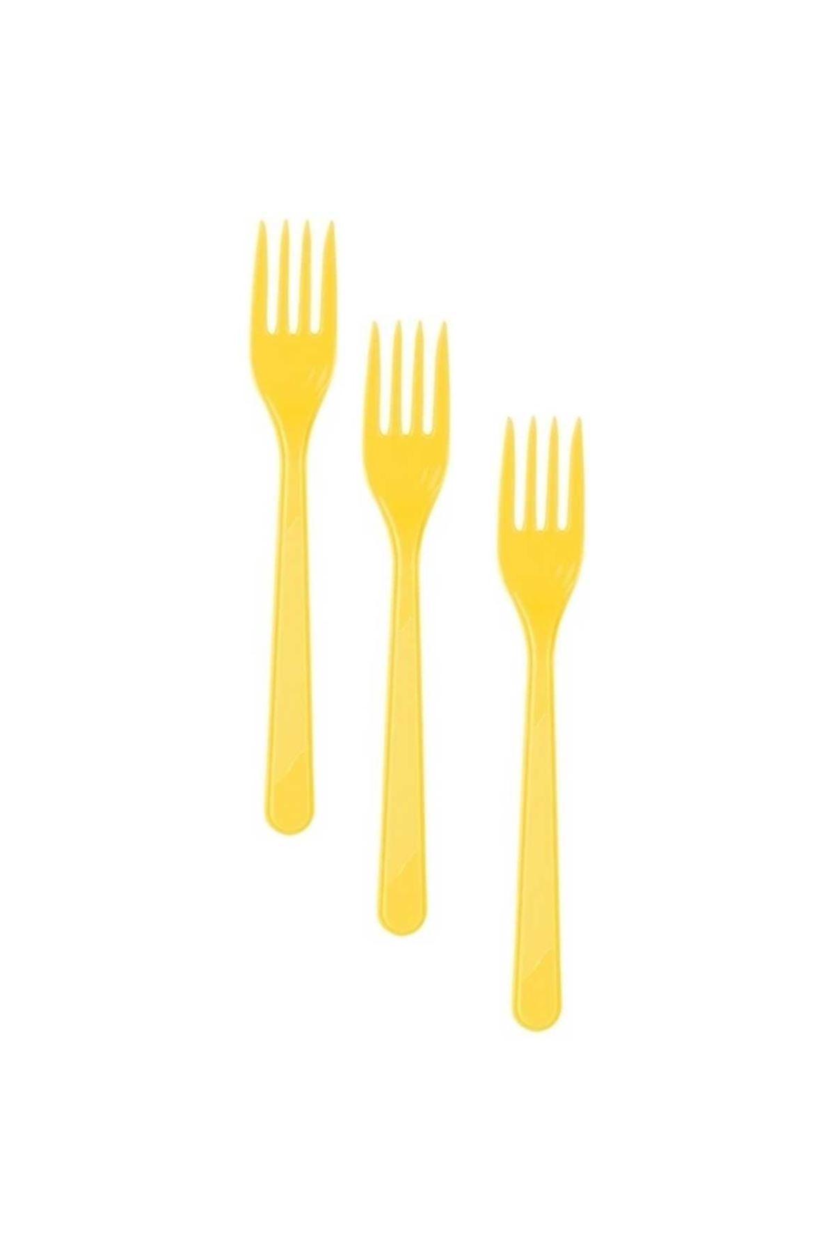 Sarı Plastik Çatal