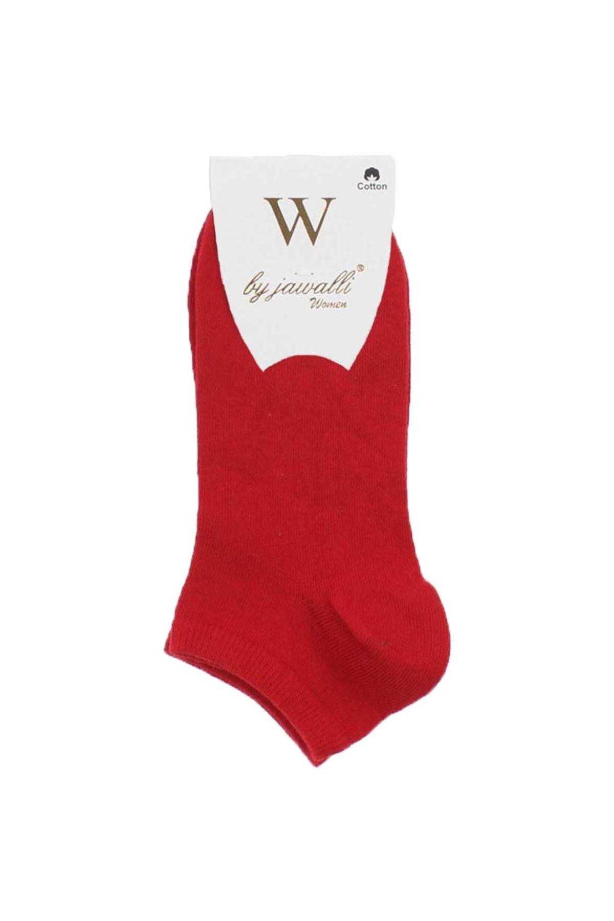 By Jawalli Kadın Kırmızı Parfümlü Patik Çorap