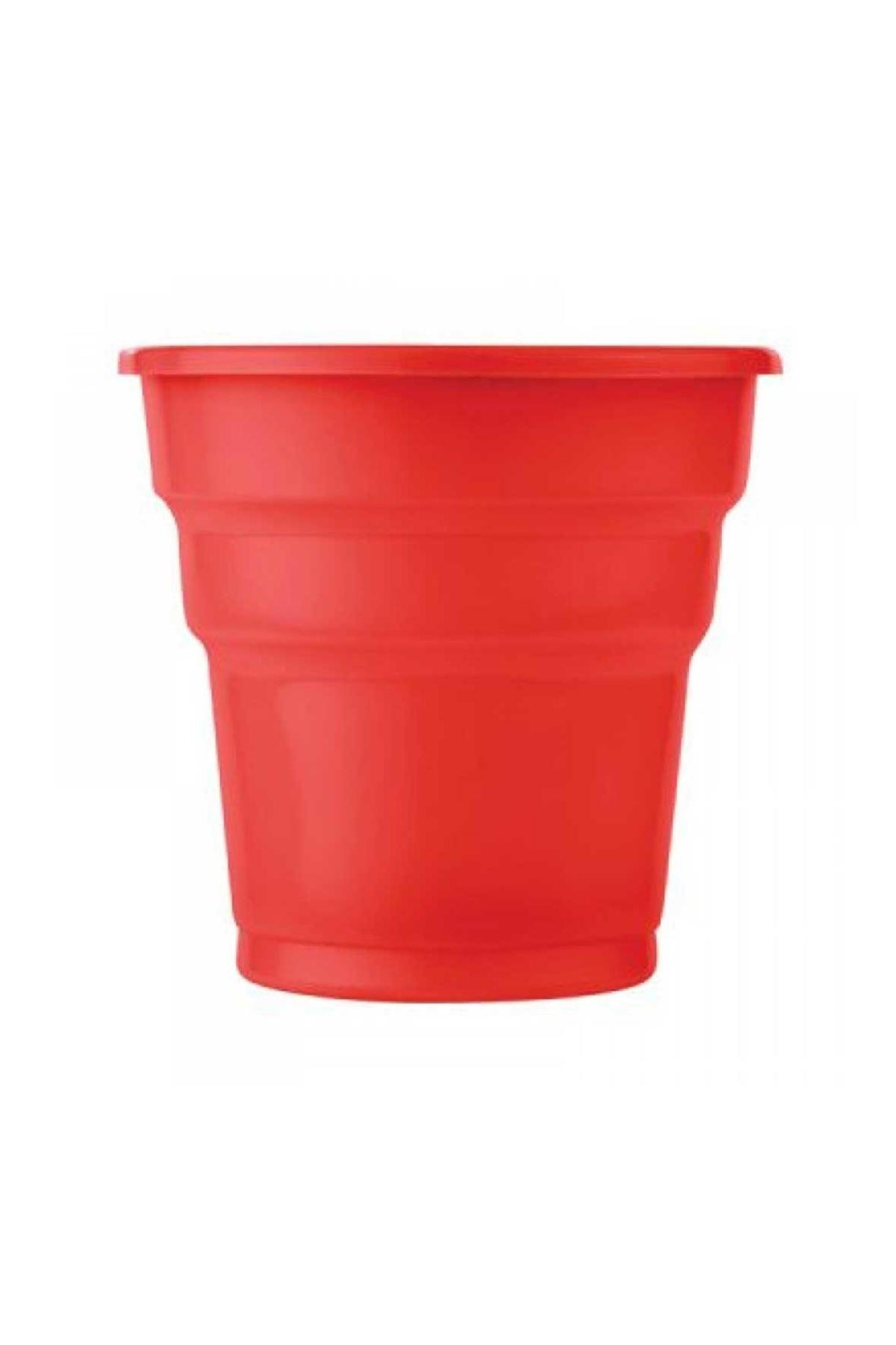 Kırmızı Plastik Bardak