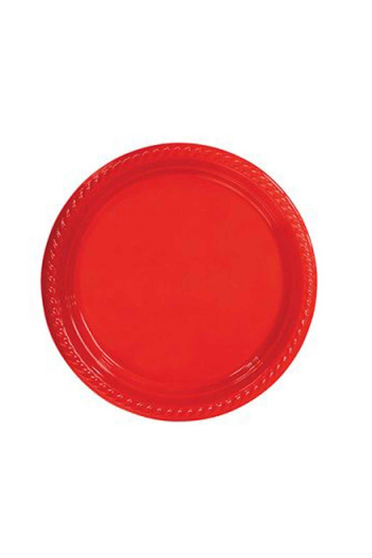 Kırmızı Plastik Tabak 064-013-002