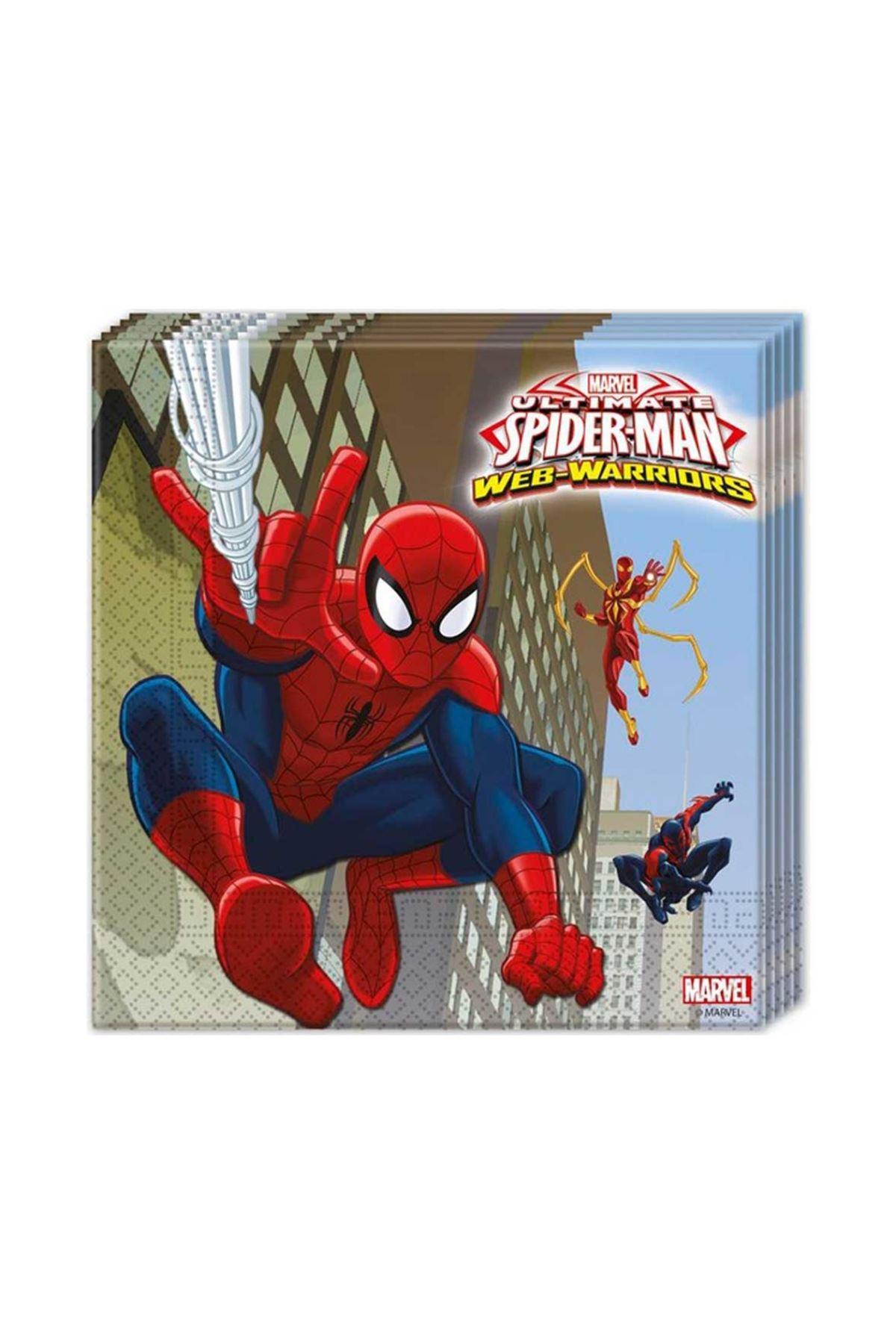 Örümcek Adam Lisanslı 20 li Kağıt Peçete