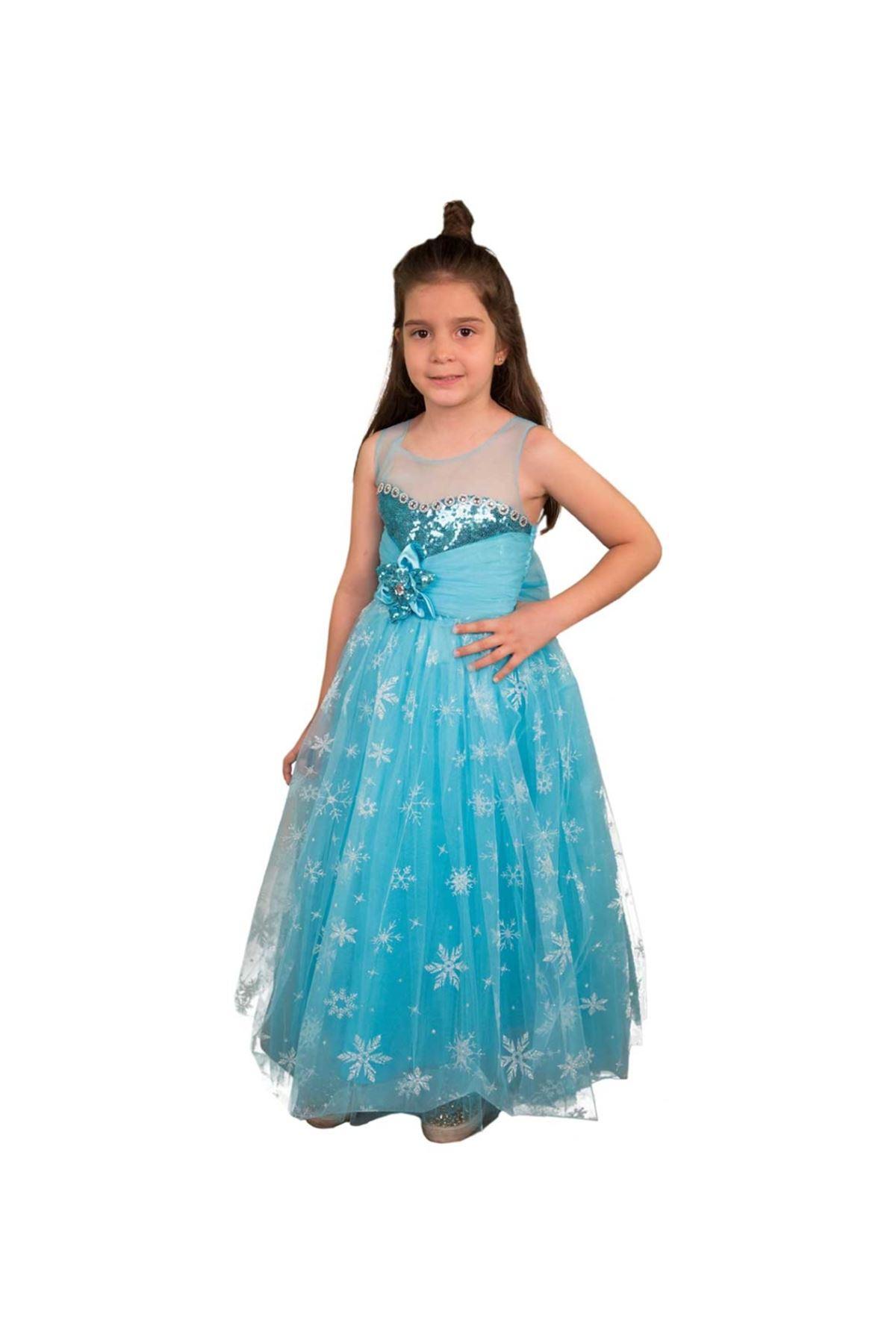 Kız Çocuk Kabarık Abiye Elbise 035-239455-037