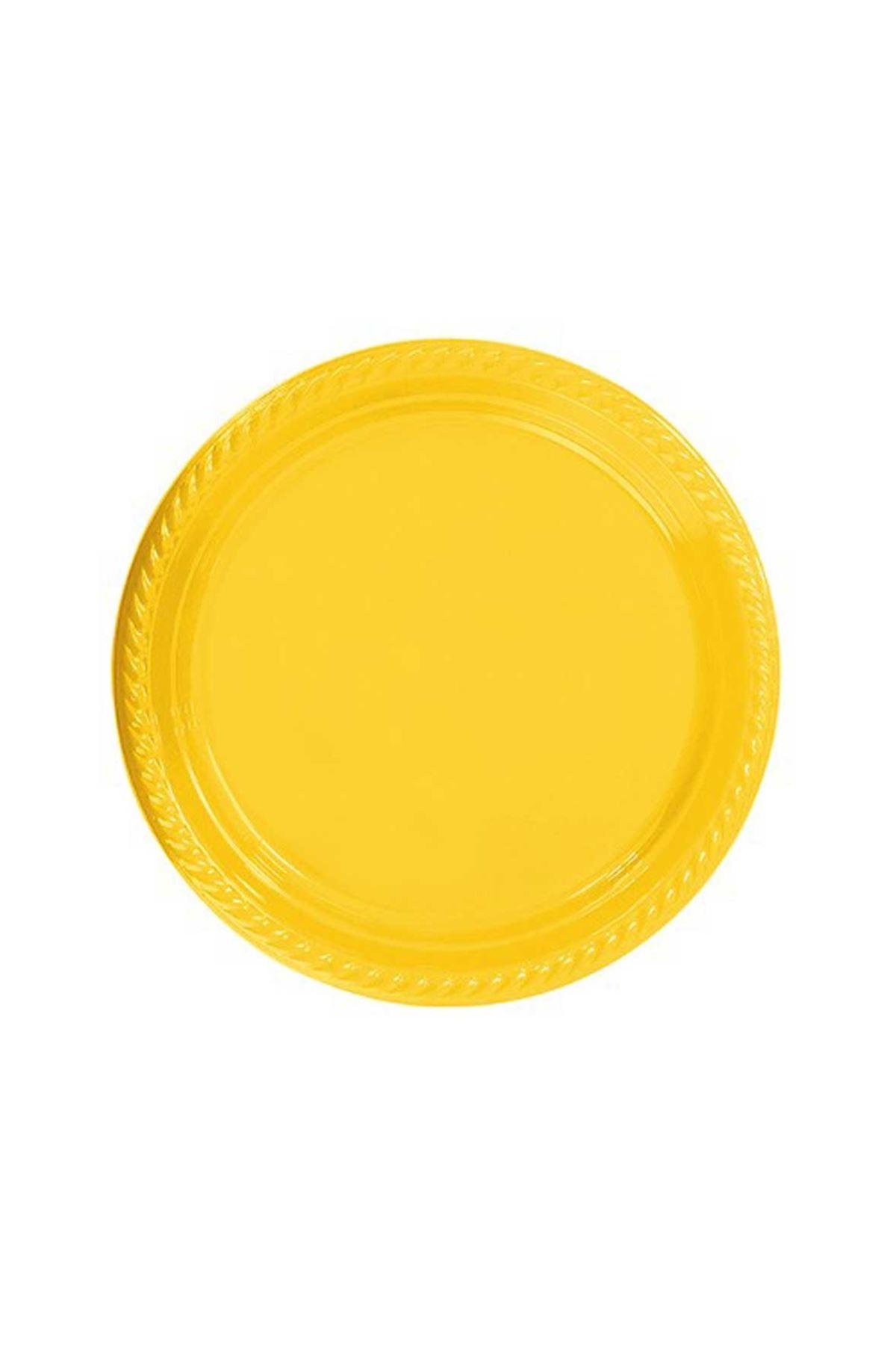Sarı Plastik Tabak 064-013-001