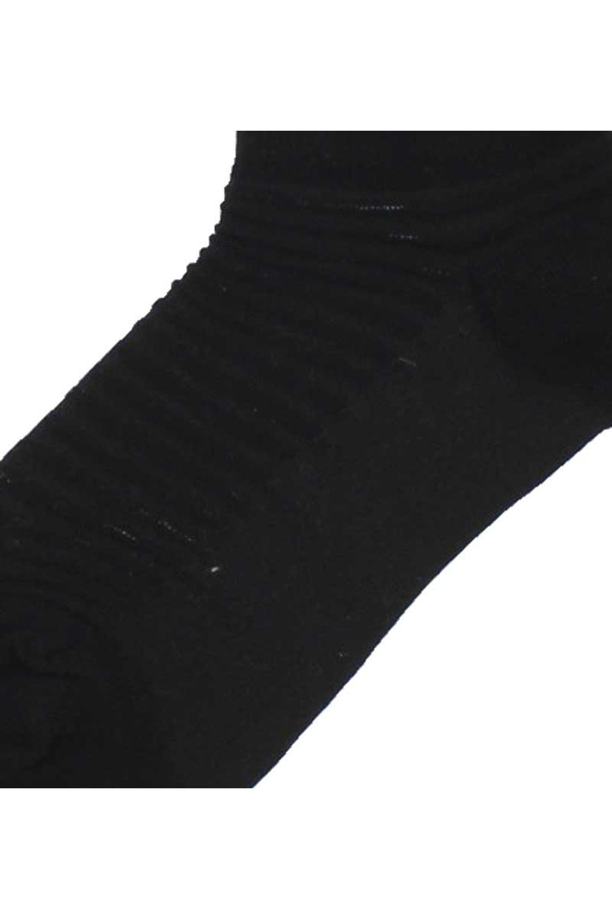By Jawali Kadın Siyah Parfümlü Desenli Patik Çorap