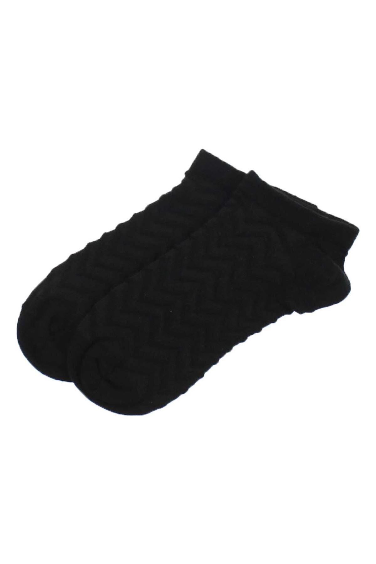 By Jawali Kadın Siyah Desenli Parfümlü Patik Çorap 065-491-038