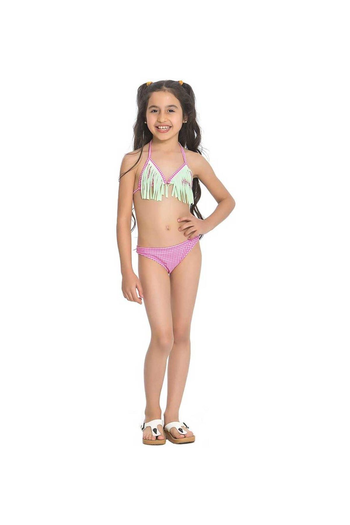 Asmay Kız Çocuk Üçgen Bikini