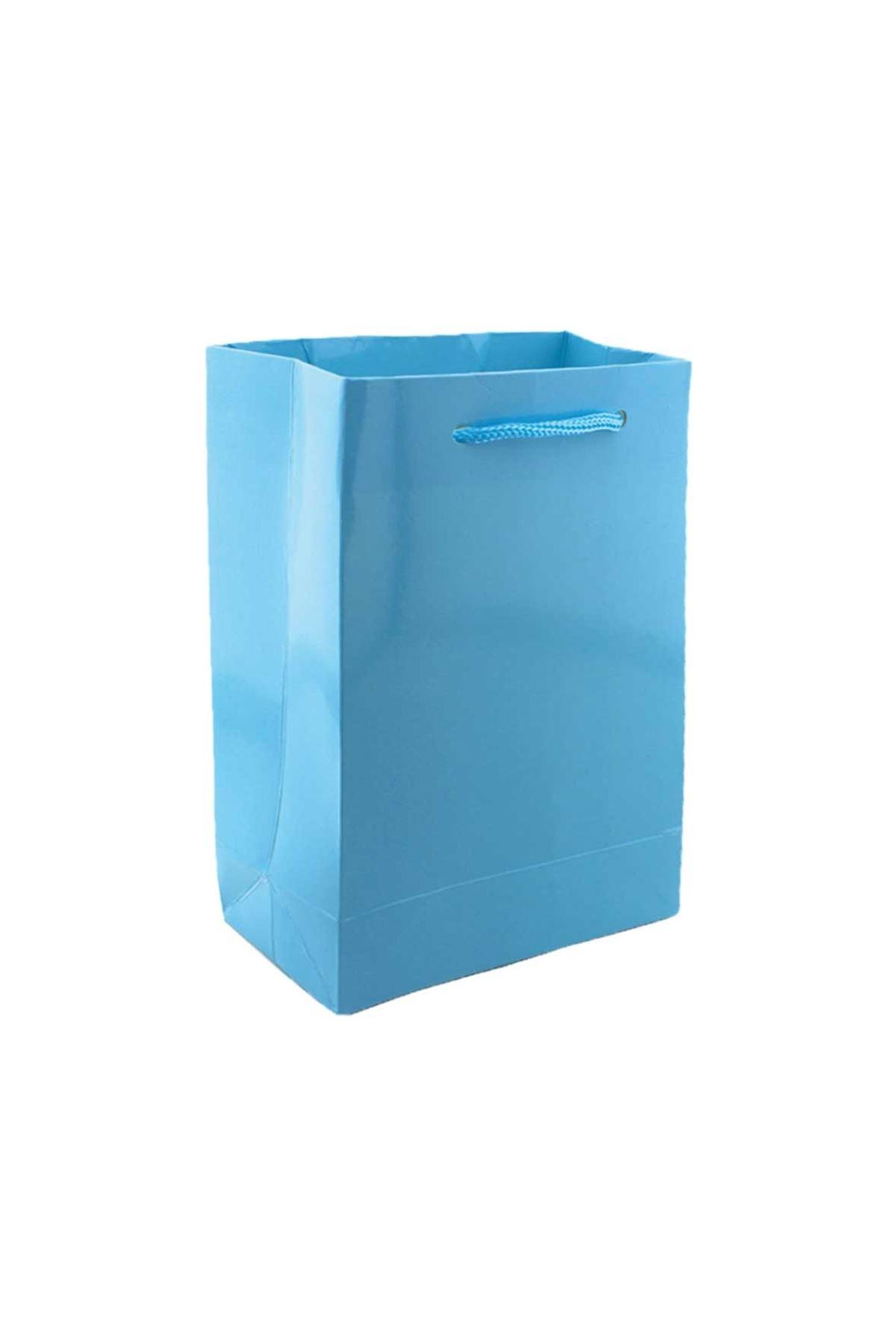 Mavi Hediyelik Karton Çanta