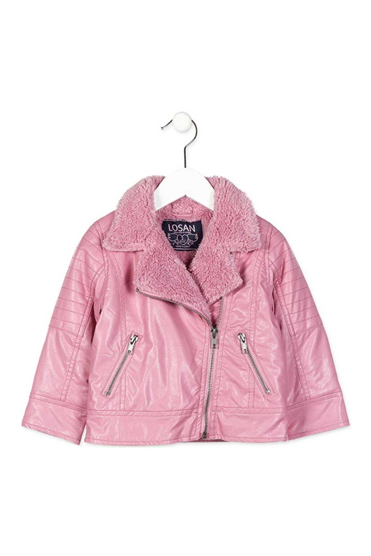 Losan Kız Çocuk Kışlık Deri Mont 057-8262007-021