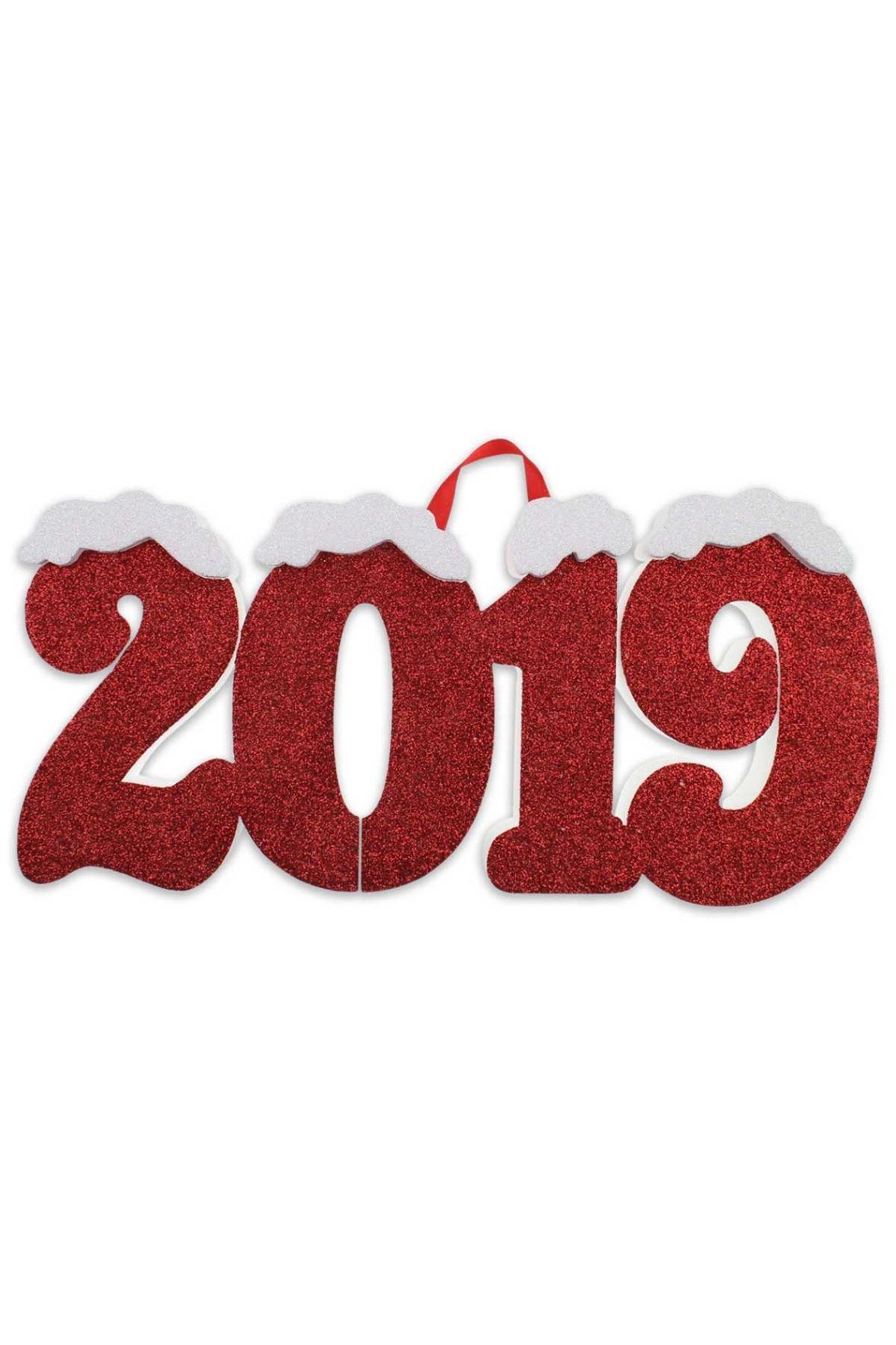 Yılbaşı 2019 Yazılı Strafor Dekor Süs