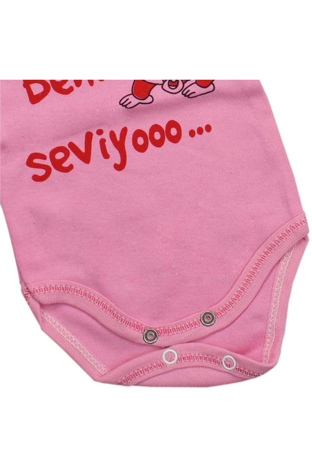 Modakids Kız Bebek Uzun Kol Baskılı Bady 035-95145-021