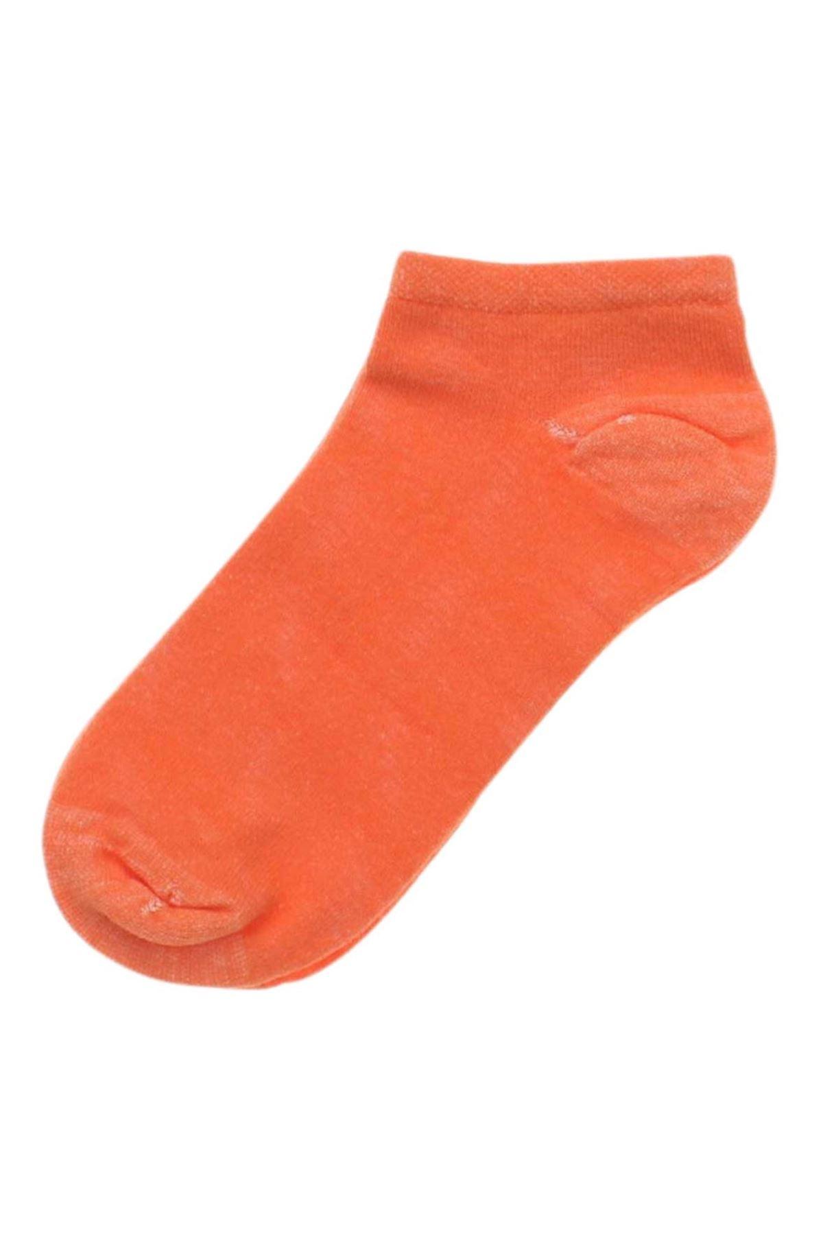 By Jawalli Kadın Oranje Parfümlü Patik Çorap