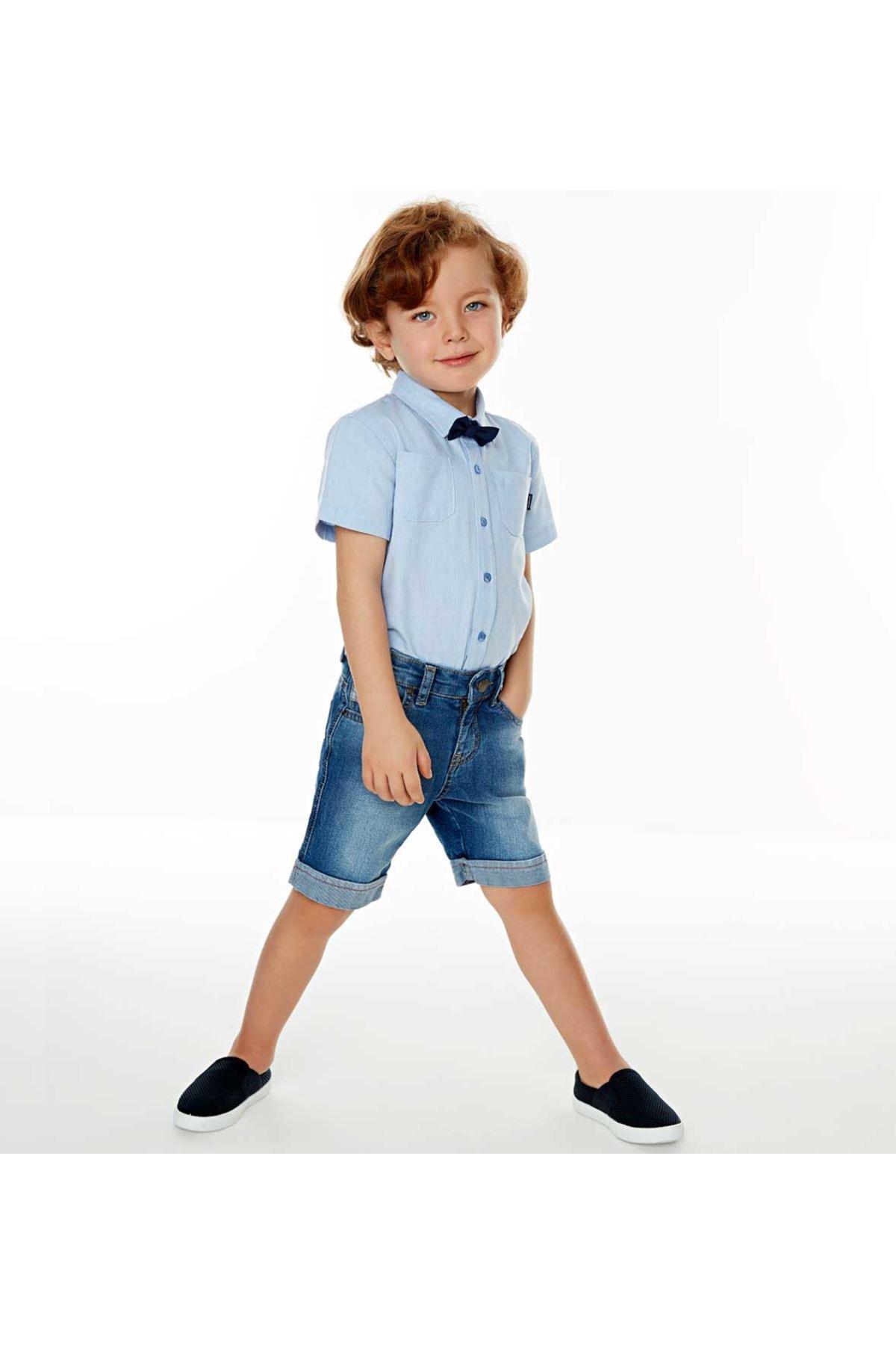 Wonder Kids Erkek Çocuk Papyonlu Gömlek