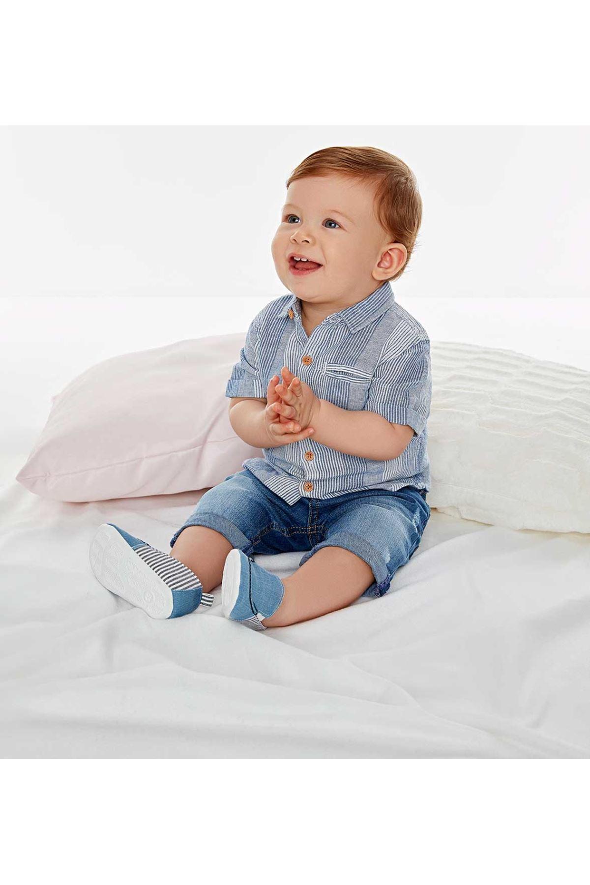 Wonder Kids Erkek Bebek Denim Şort