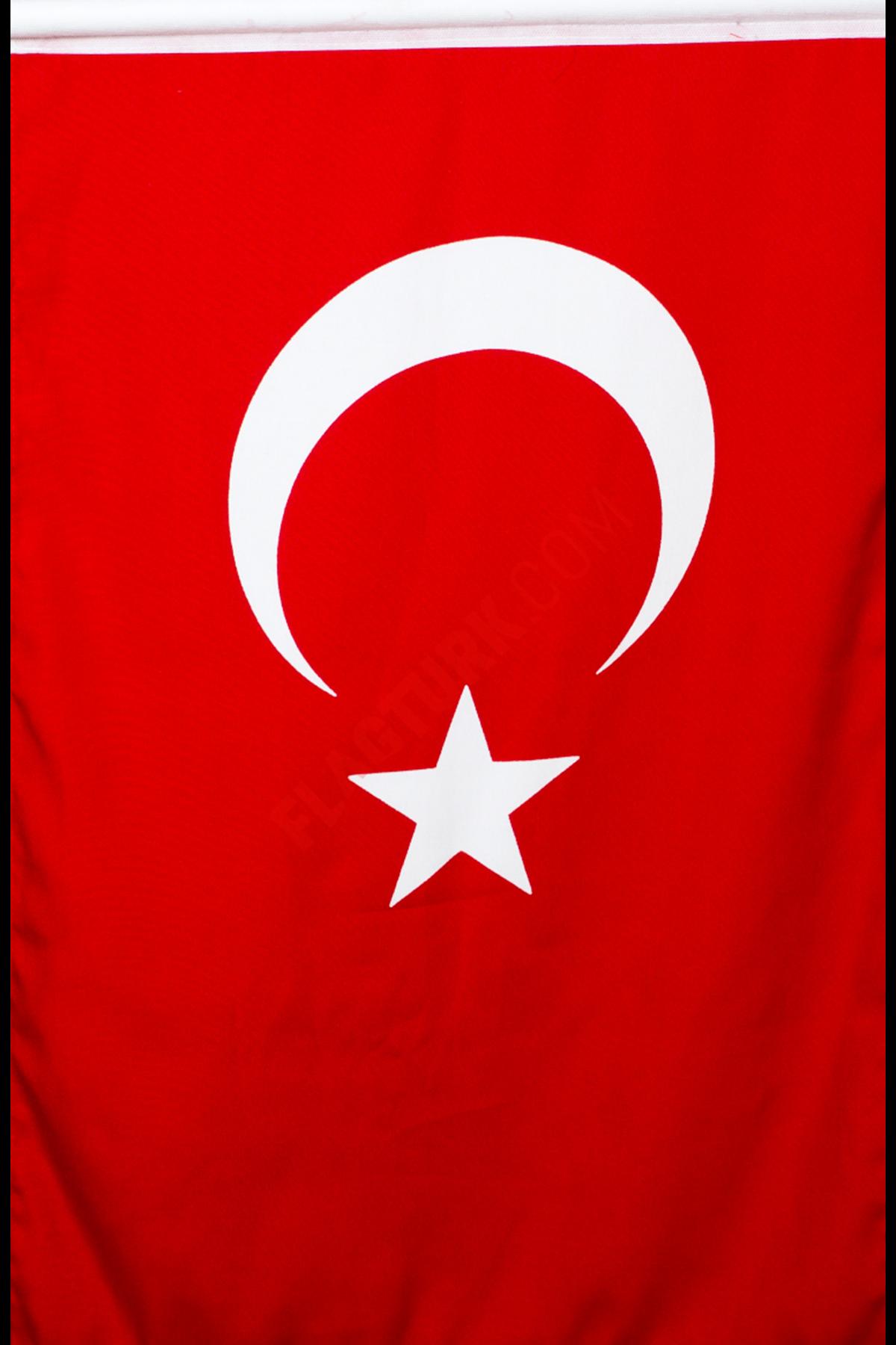 Sopalı Bez Türk Bayrağı 20x30 cm
