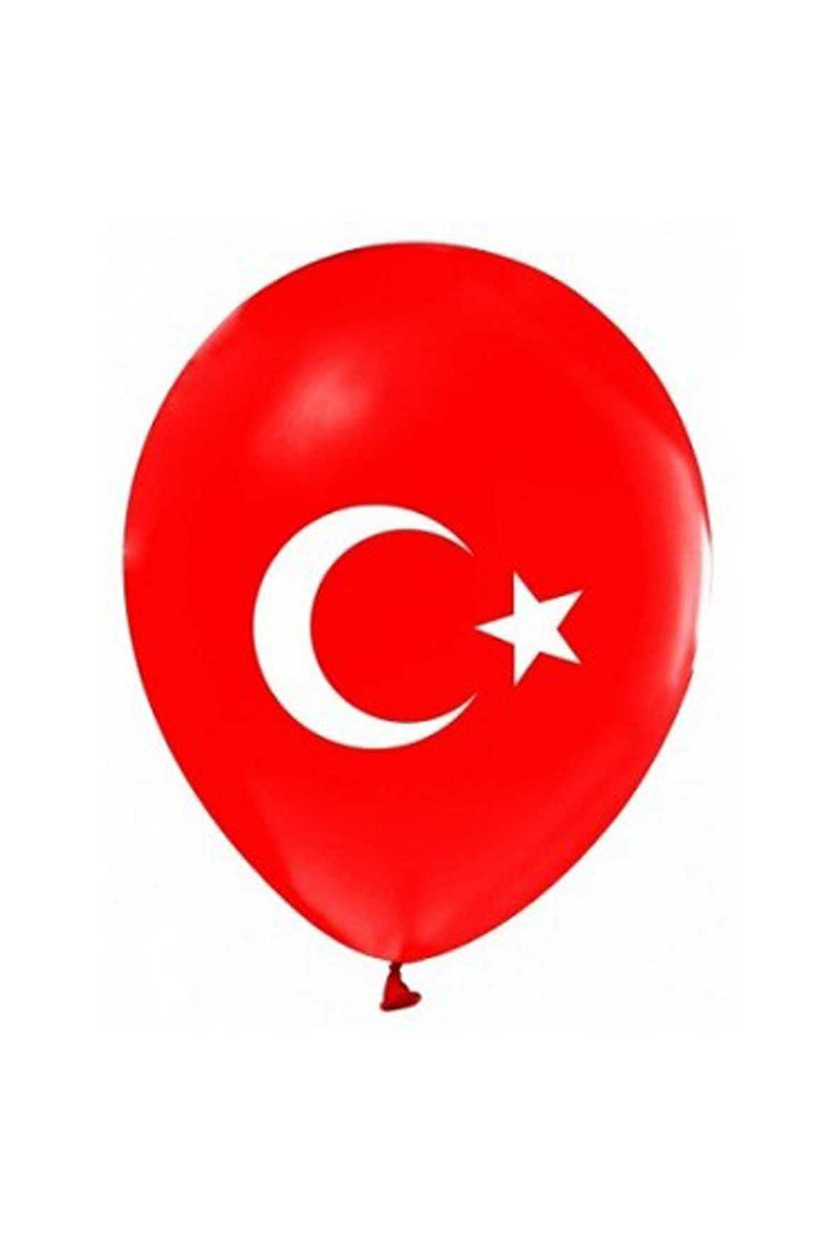 Türk Bayraklı Kırmızı Balon