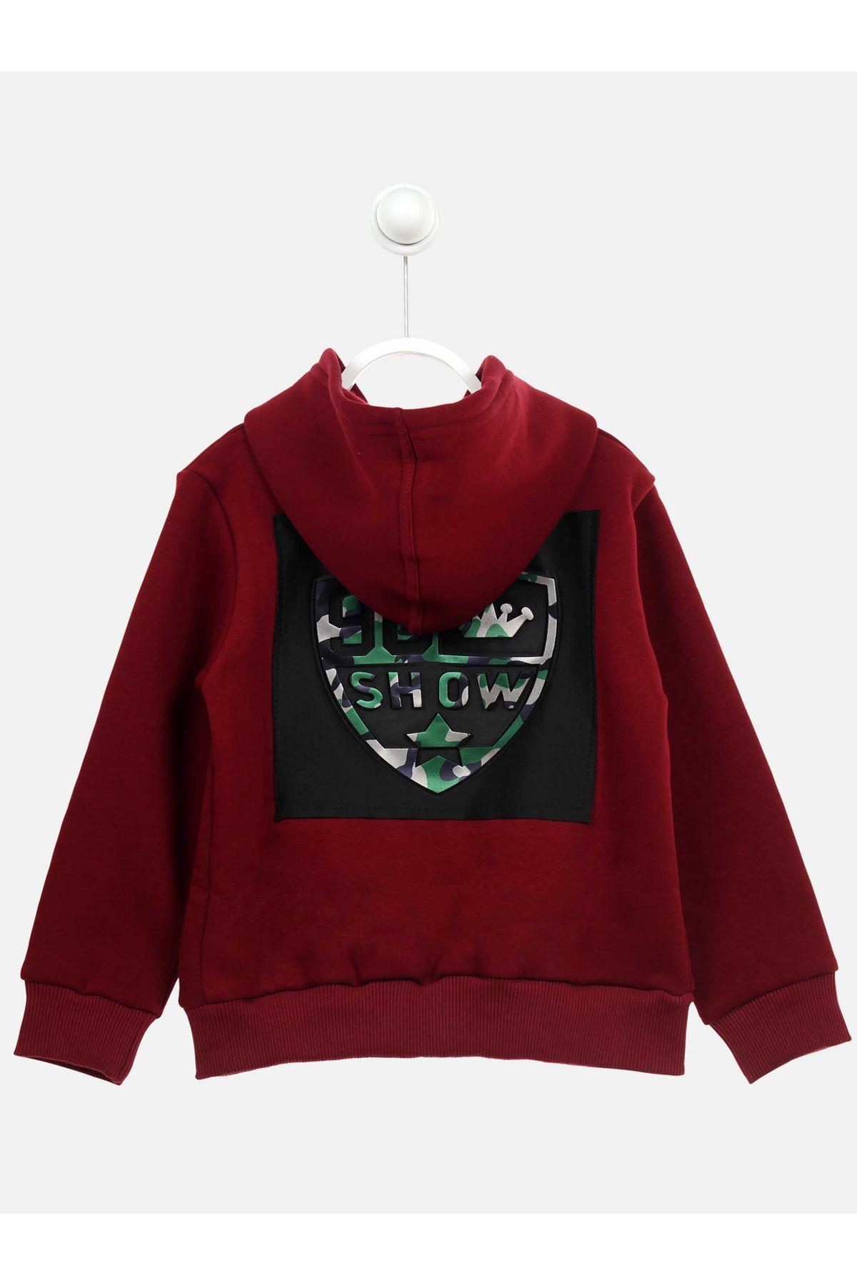 Burgundy Winter Male Child Jacket