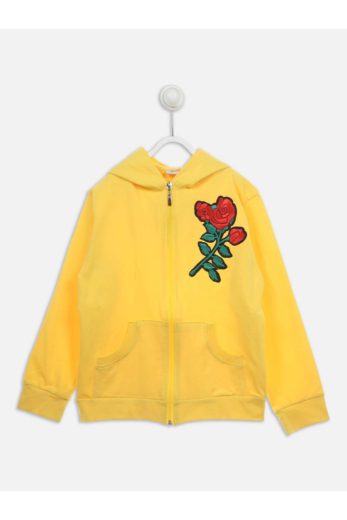 Sarı Mevsimlik Kız Çocuk Sweat