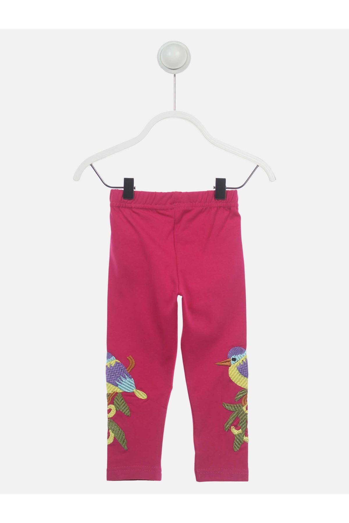 Fuşya Mevsimlik Kız Çocuk Tayt