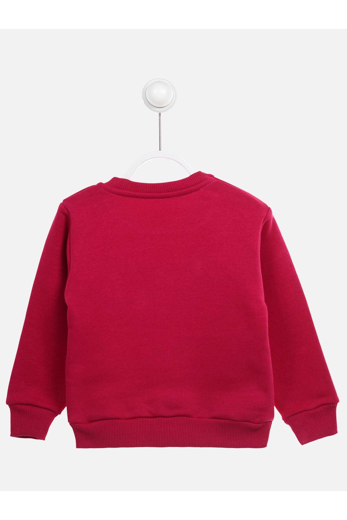 Mürdüm Kışlık Kız Çocuk Sweatshirt