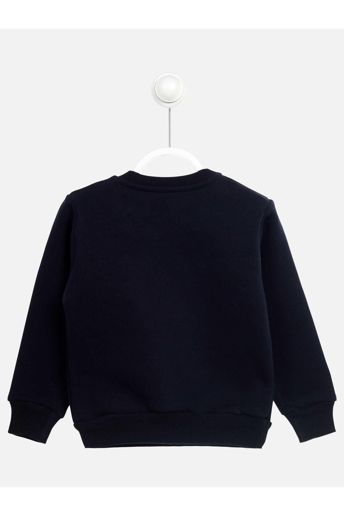 Koyu Lacivert Kışlık Kız Çocuk Sweatshirt
