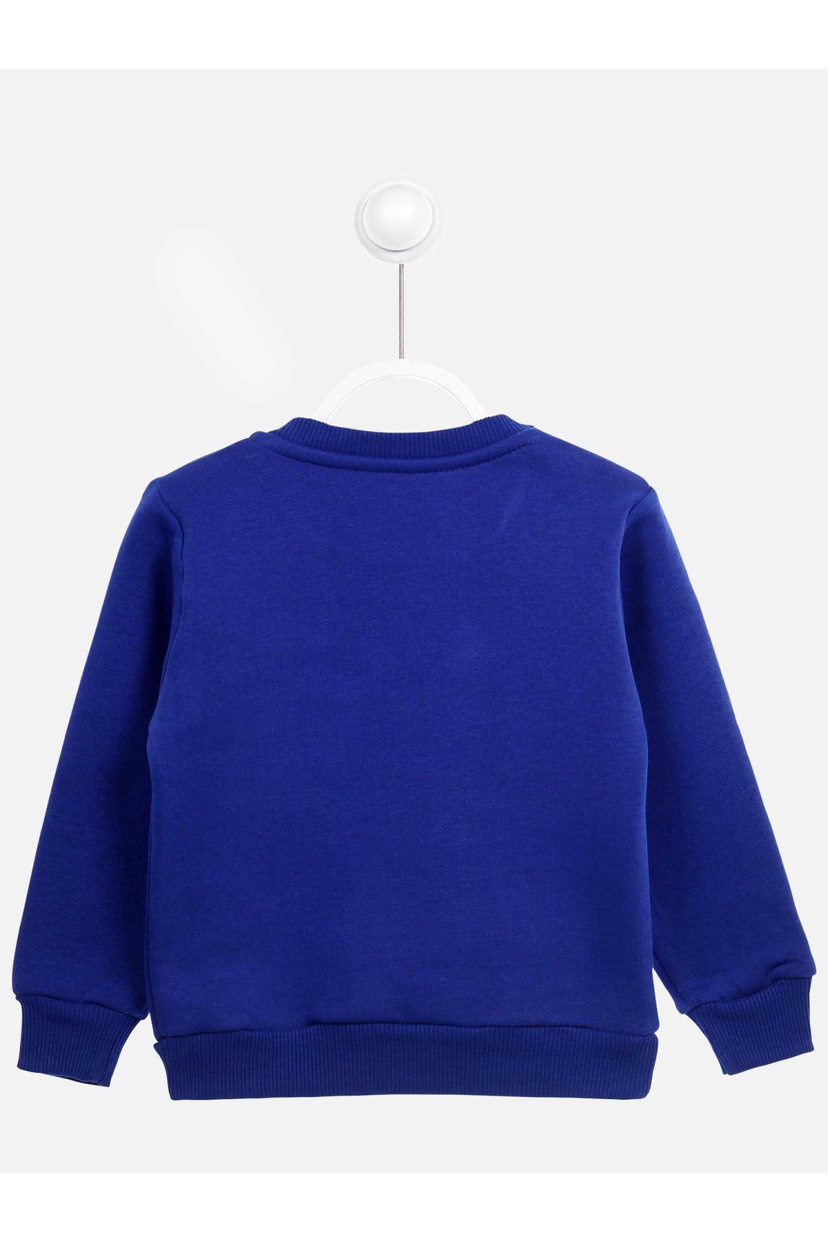 Sax Mavi  Kışlık Kız Çocuk Sweatshirt