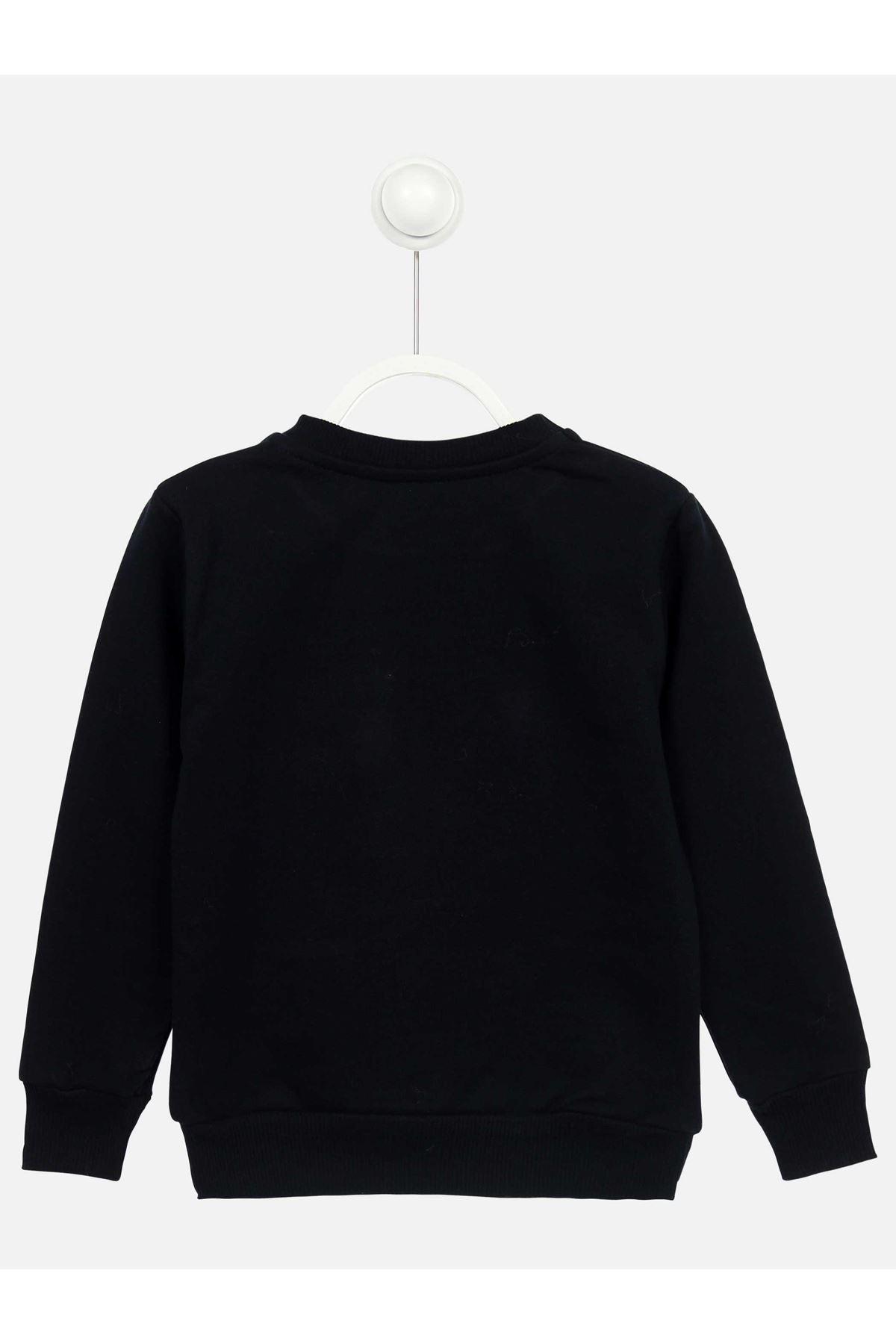 Koyu Lacivert Mevsimlik Kız Çocuk Sweatshirt