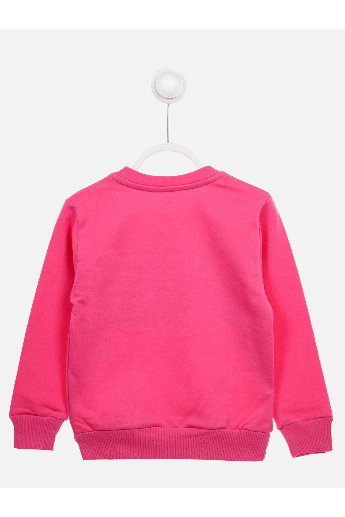 Pembe Mevsimlik Kız Çocuk Sweatshirt