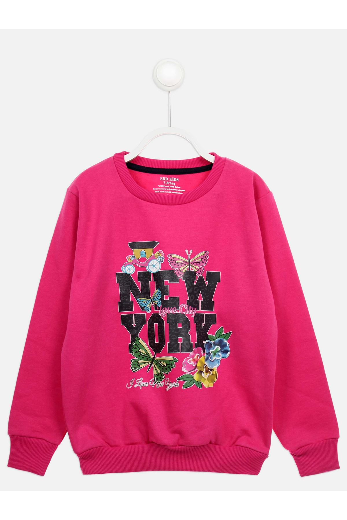 Fuchsia Seasonal Girl Child Sweatshirt