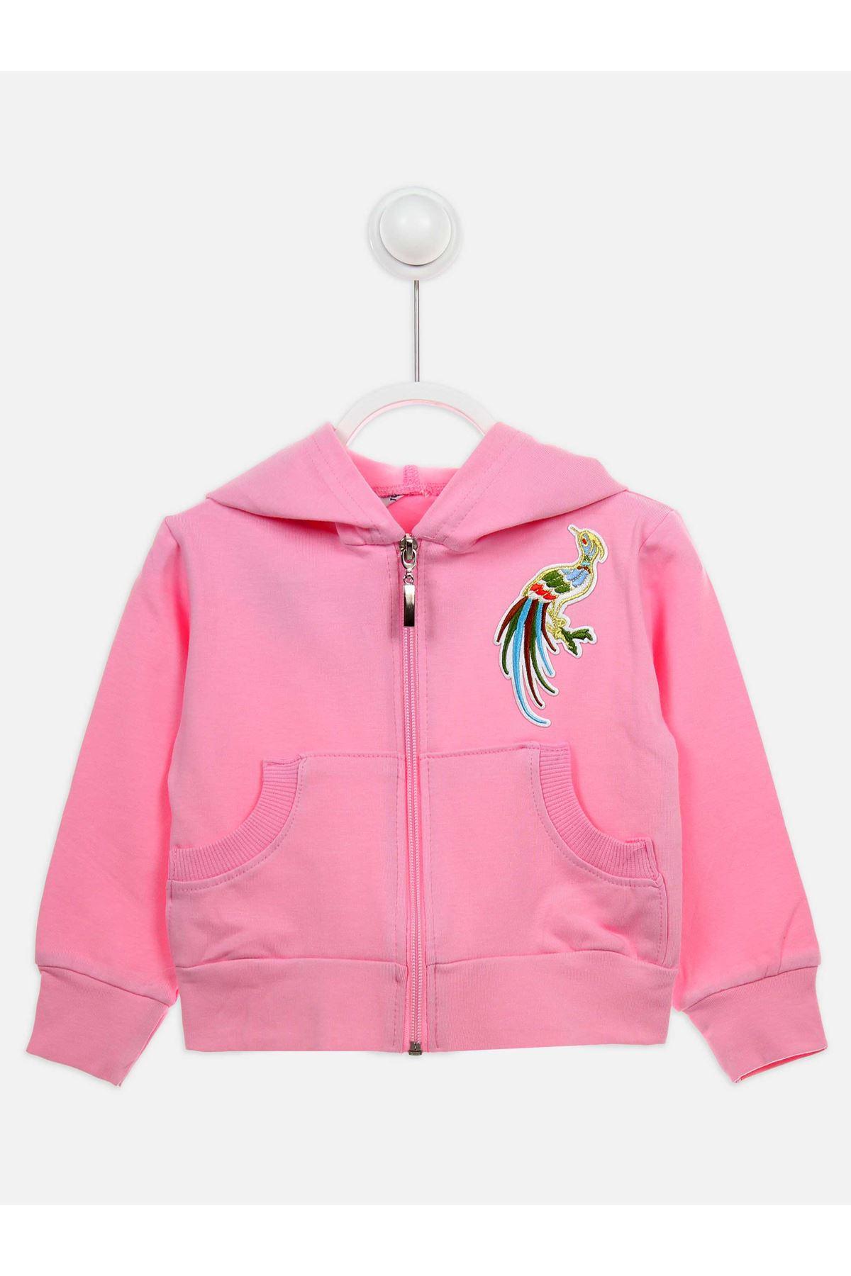 Açık Pembe Mevsimlik Kız Çocuk  Ceket