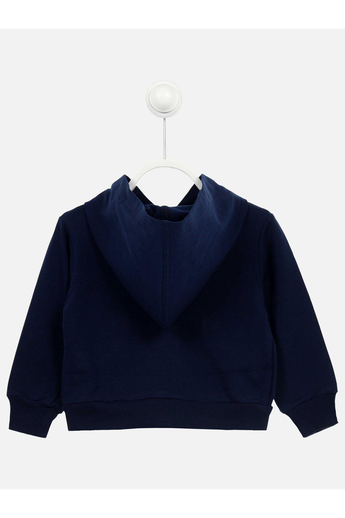 Navy Blue Seasonal Female Child Jacket