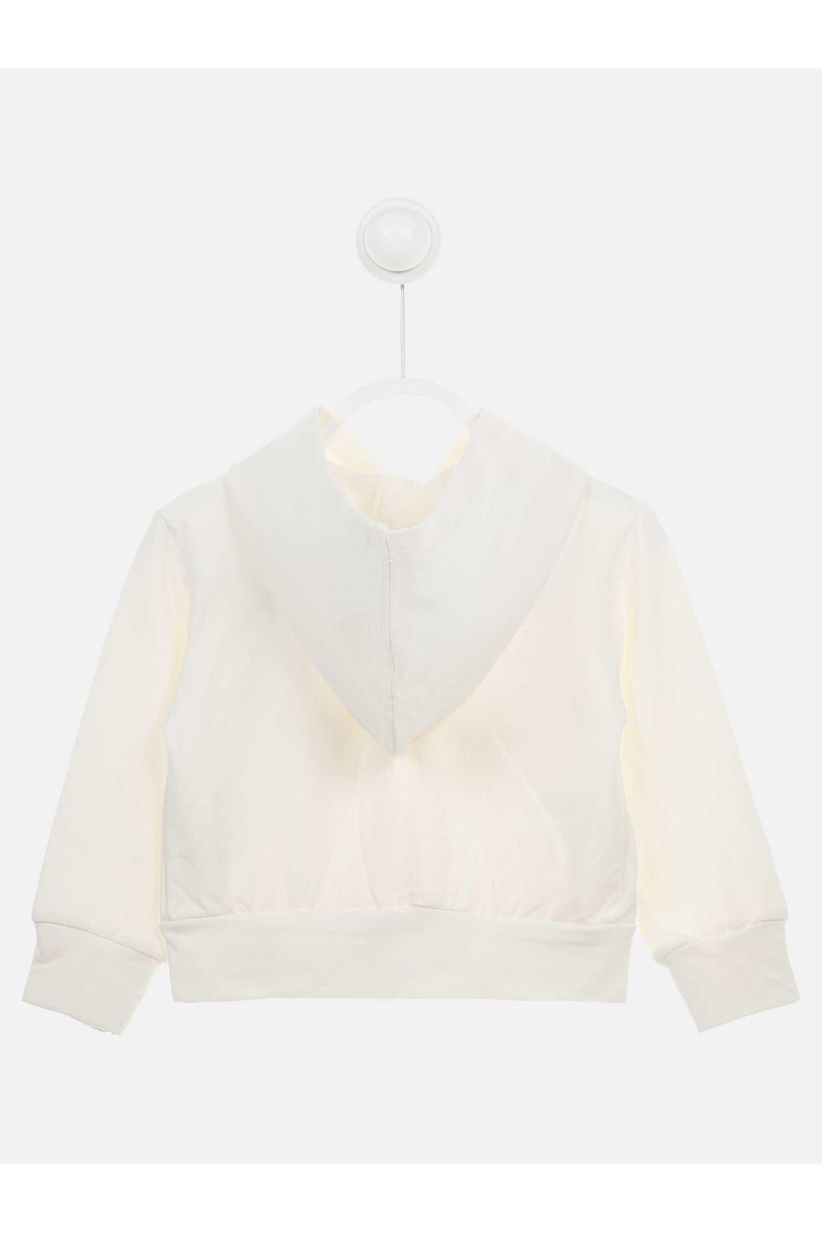Beyaz Mevsimlik Kız Çocuk Ceket