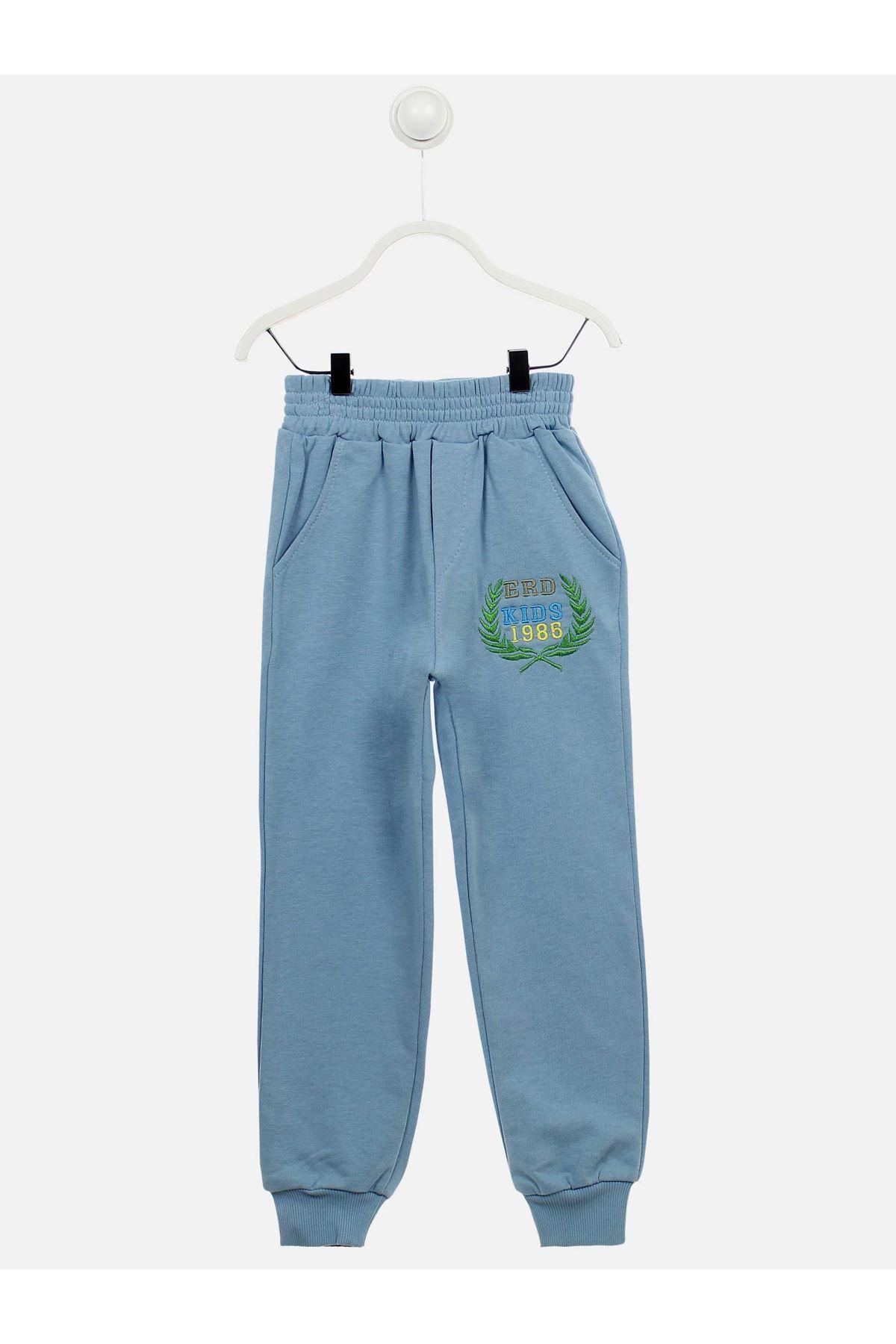 Açık Mavi Mevsimlik Erkek Çocuk Pijama Takımı