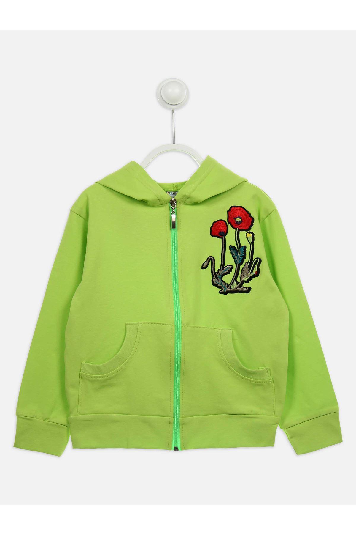 Yeşil Mevsimlik Kız Çcuk Ceket