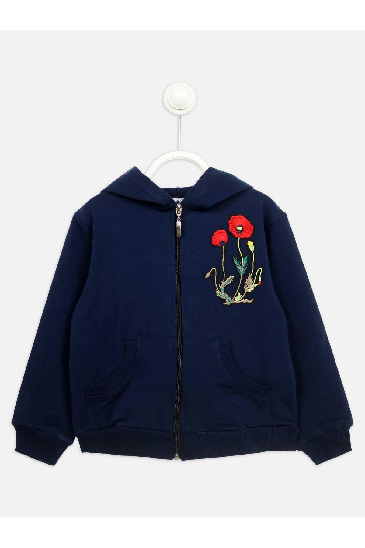 Lacivert Mevsimlik Kız Çocuk Ceket
