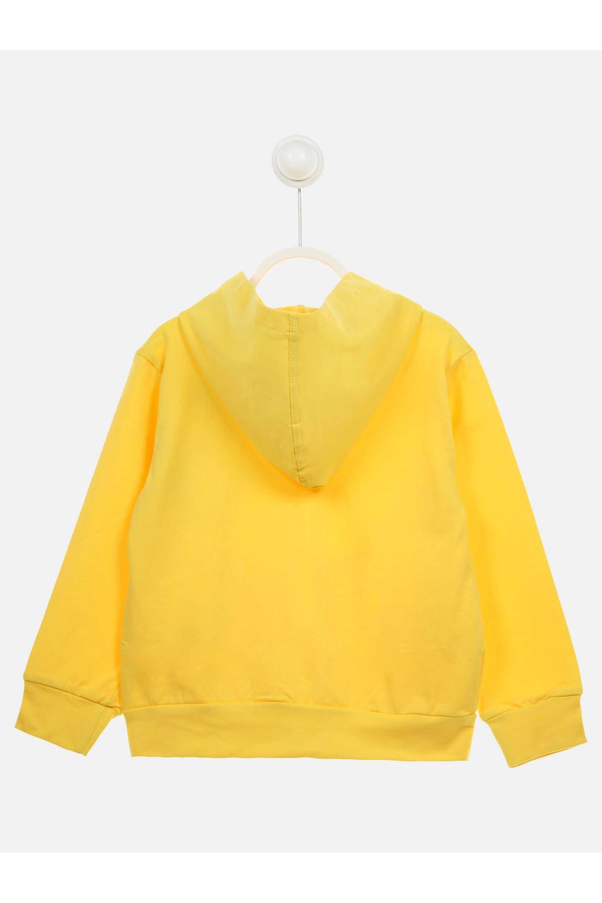 Sarı Mevsimlik Kız Çocuk Ceket