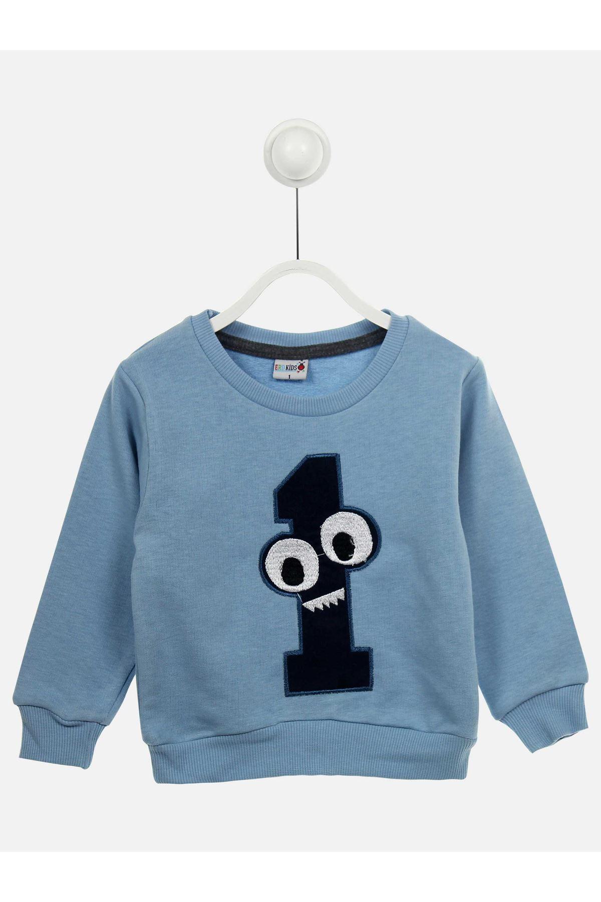 Siyah Açık Mavi Mevsimlik Erkek Çocuk Eşofman Takımı