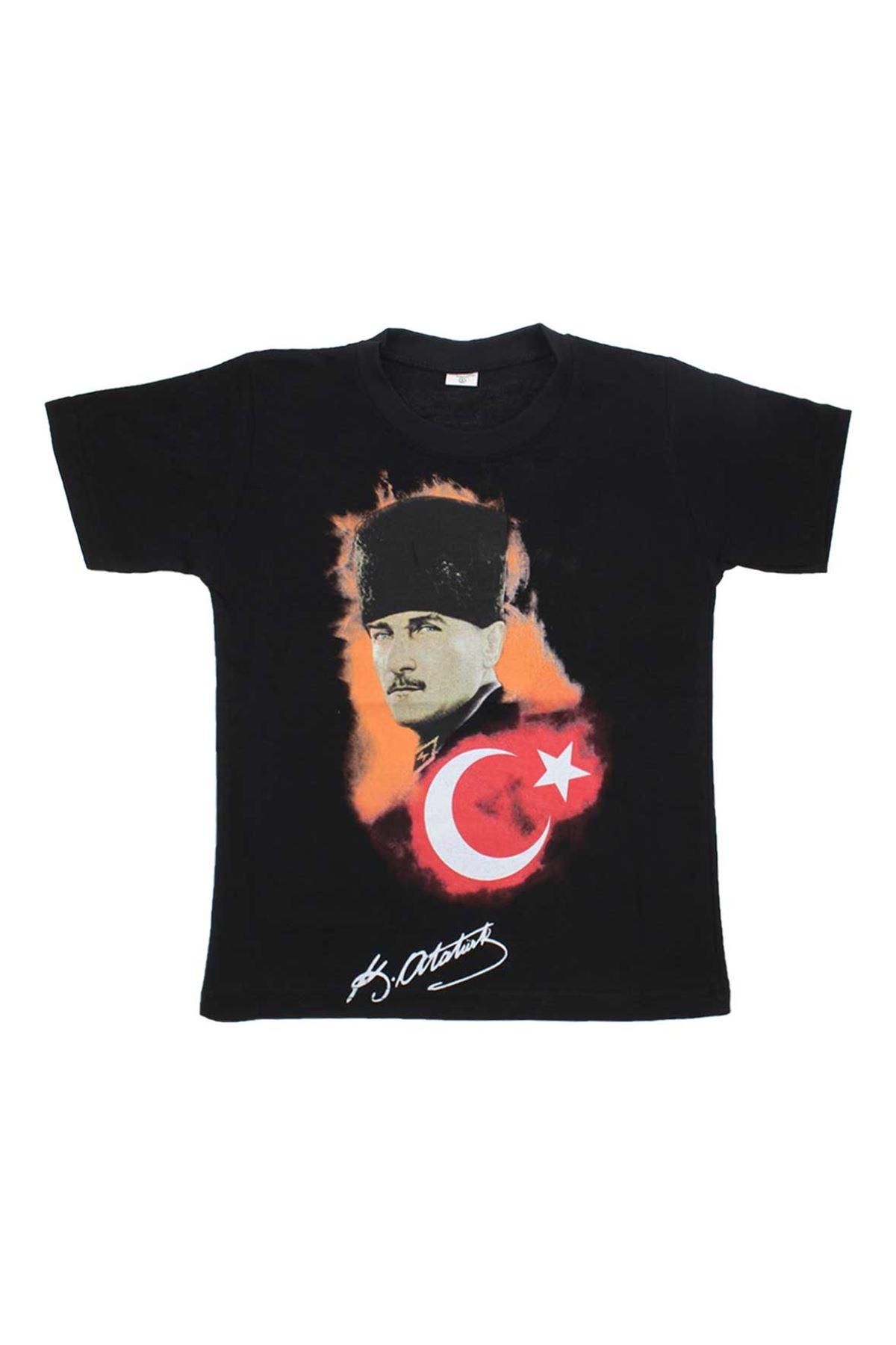 Atatürk Bayrak Baskılı S - M - L - XL Tshirt