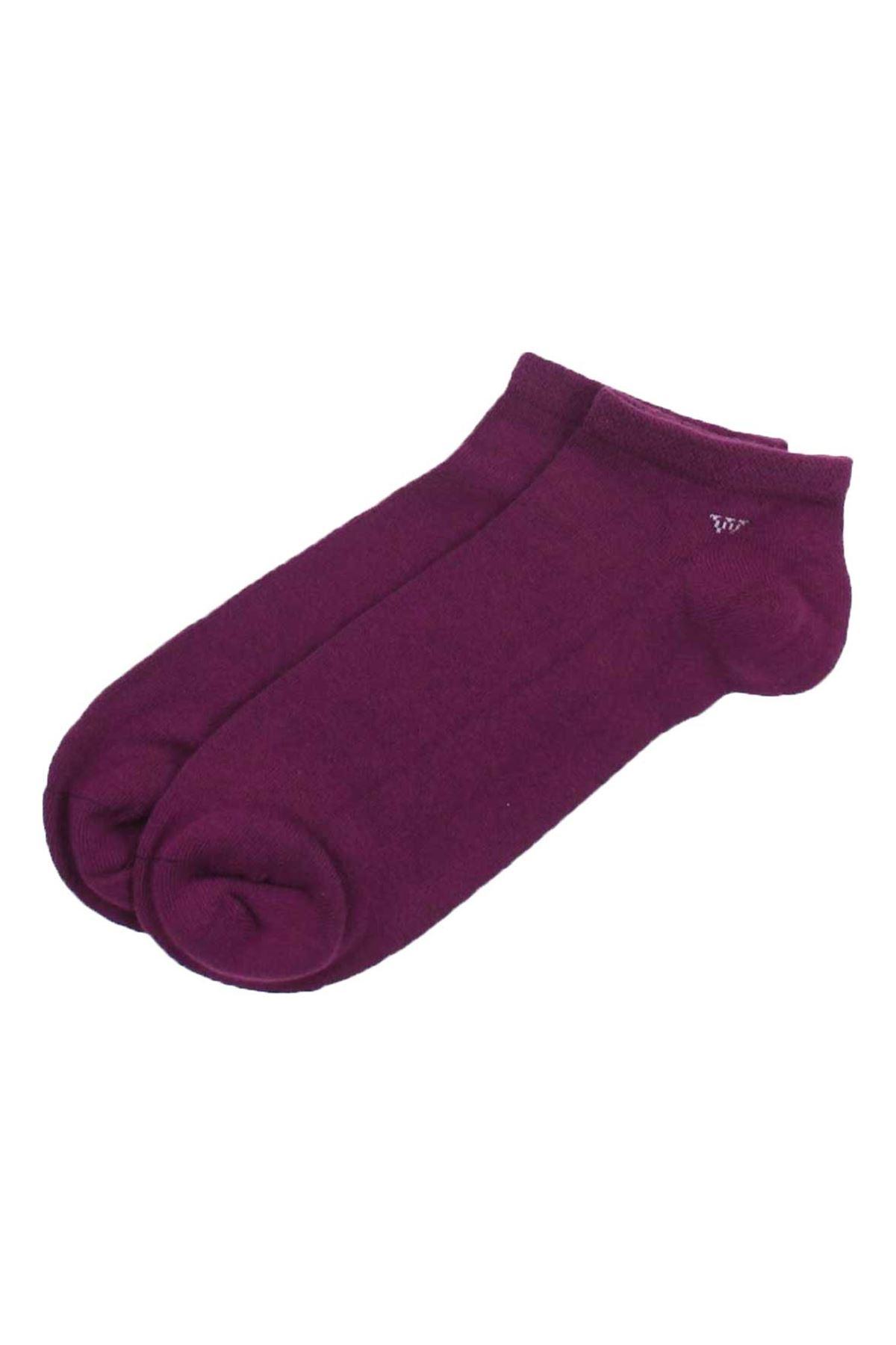 Parfümlü Mor Erkek Patik Çorap