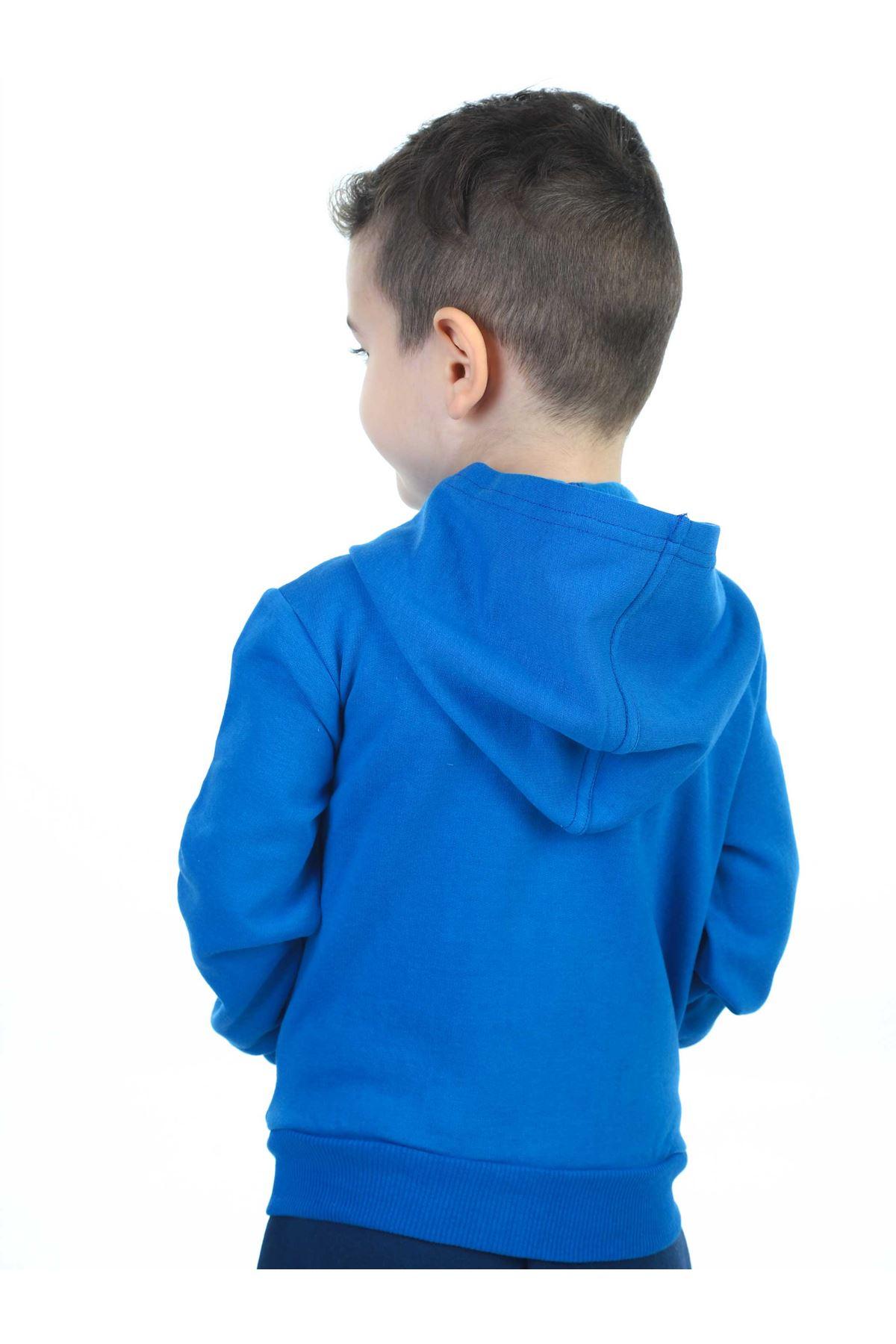 Sax Mevsimlik Kapüşonlu Erkek Çocuk Ceket