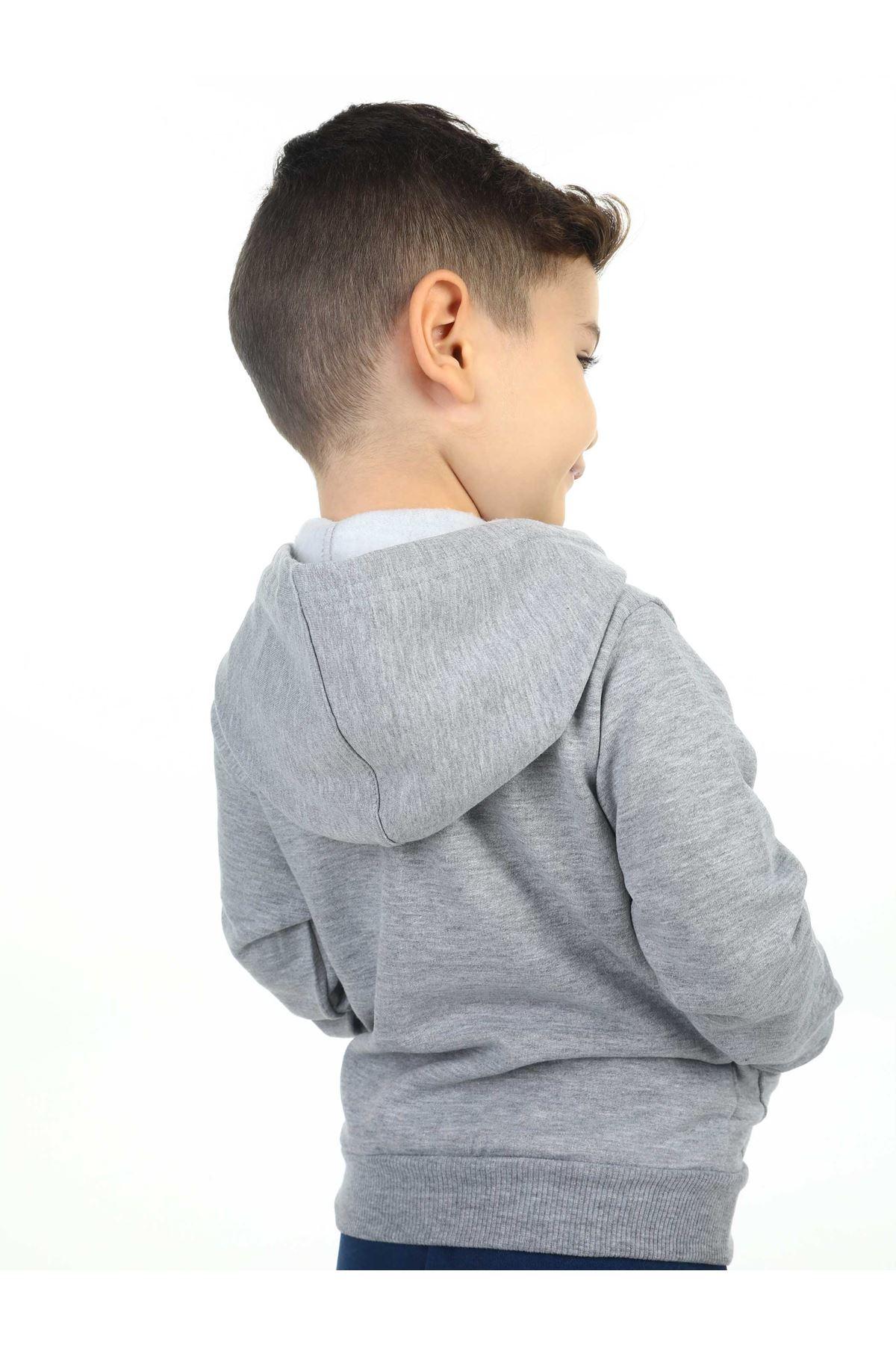 Gray Seasonal Male Child Jacket
