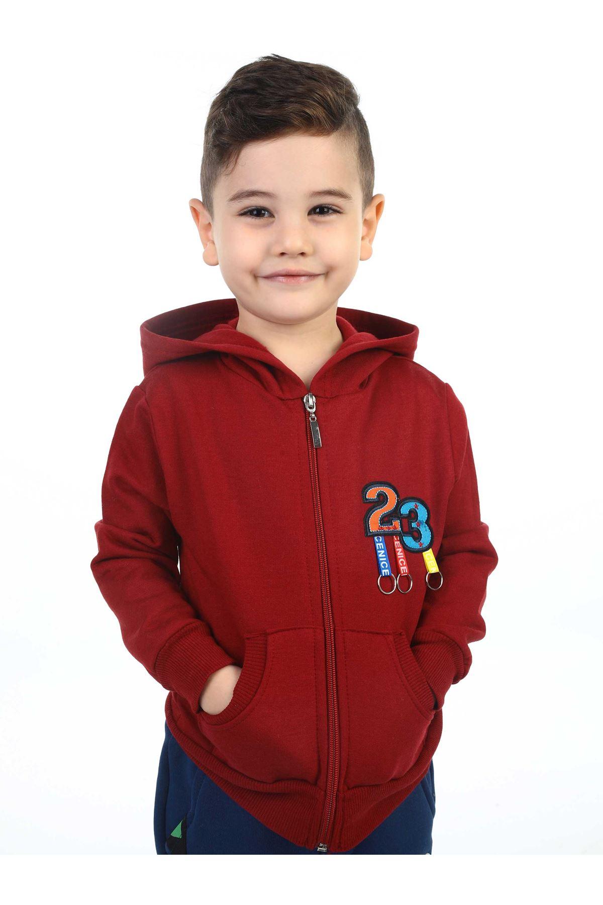 Burgundy Seasonal Male Child Jacket