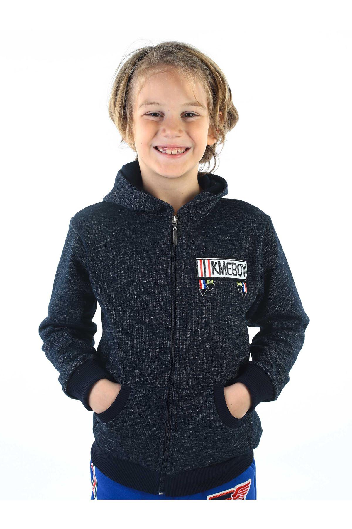 Dark Dark Blue Winter Male Child Jacket