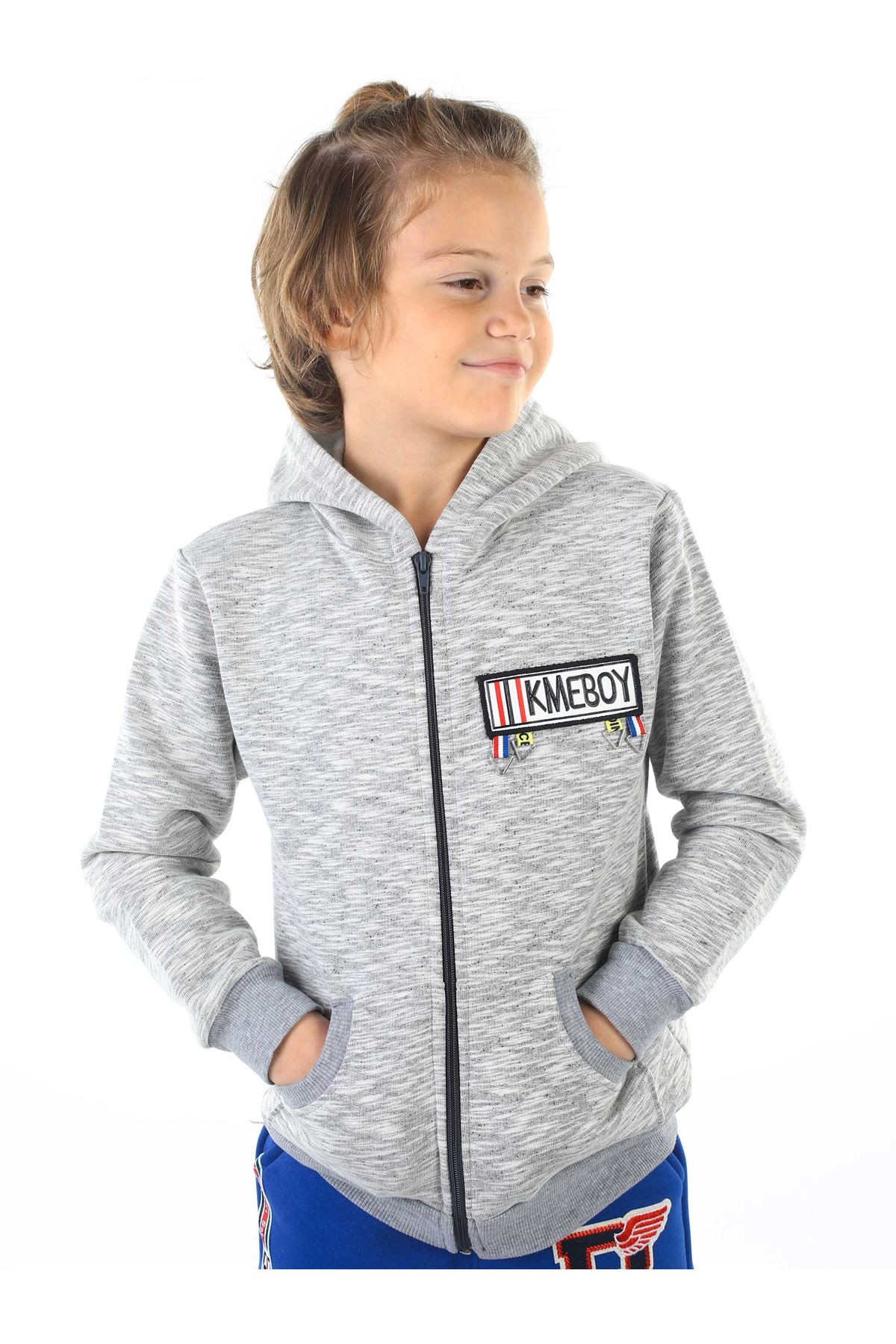 Gray Winter Male Child Jacket