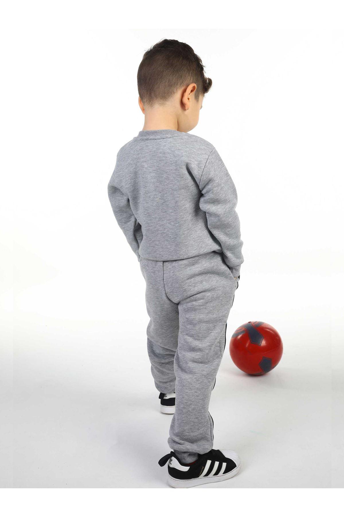 Gri Kışlık Erkek Çocuk Sweatshirt