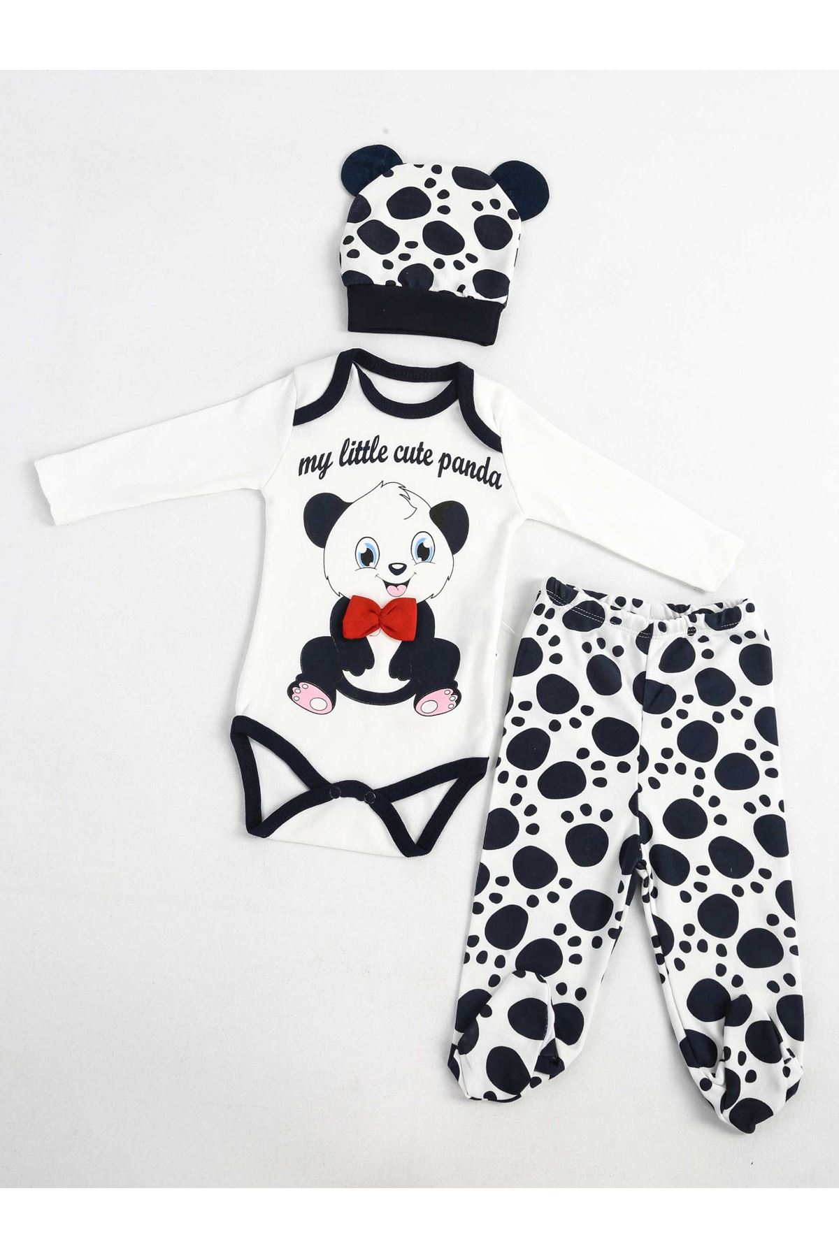 Navy Blue Newborn Baby Rompers Set